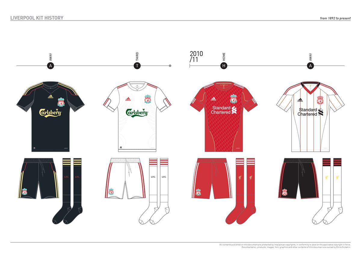 Liverpool F.C Jacquard Schal Gegr/ündet 1892
