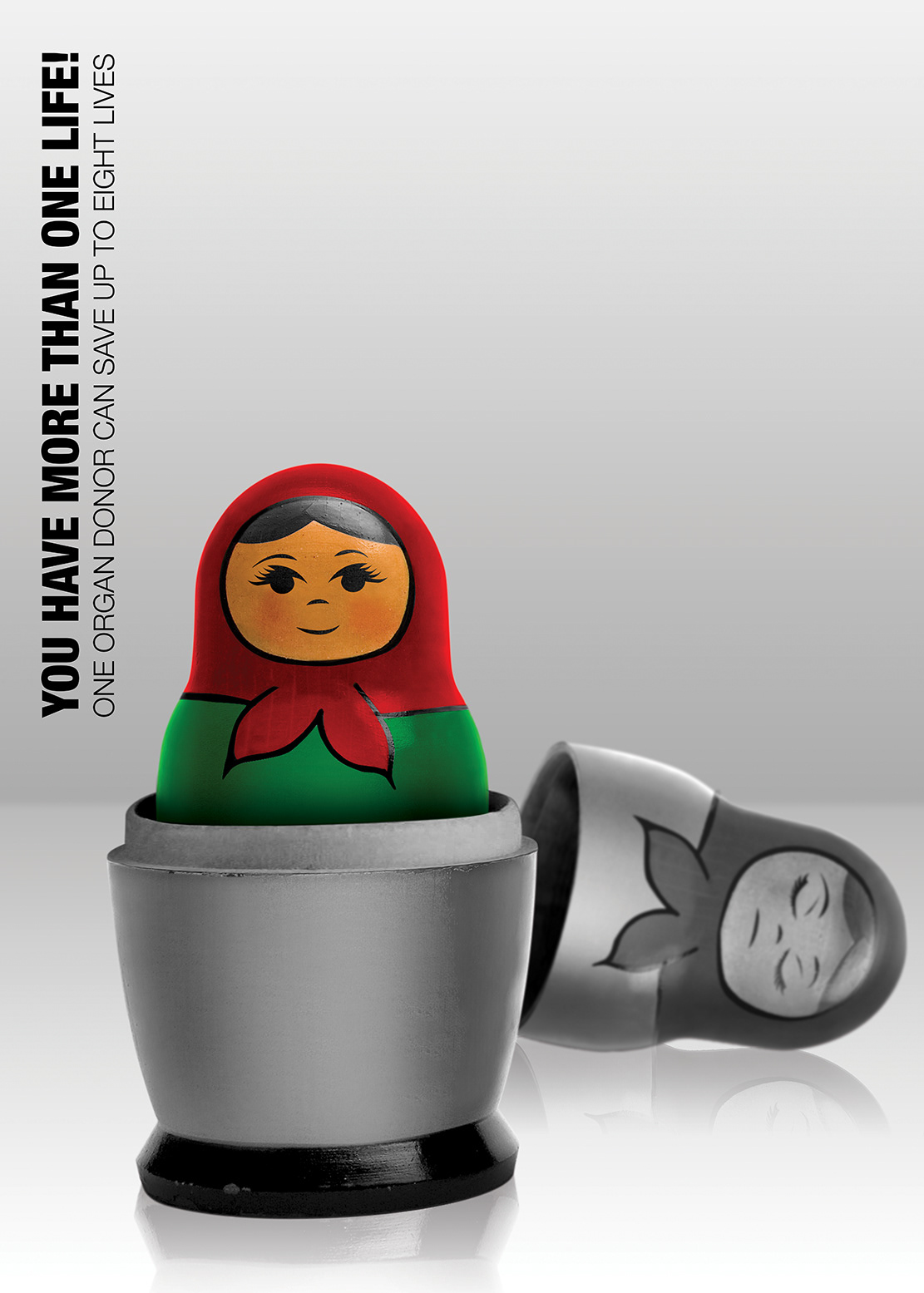 poster graphic design  organ donation matrugska
