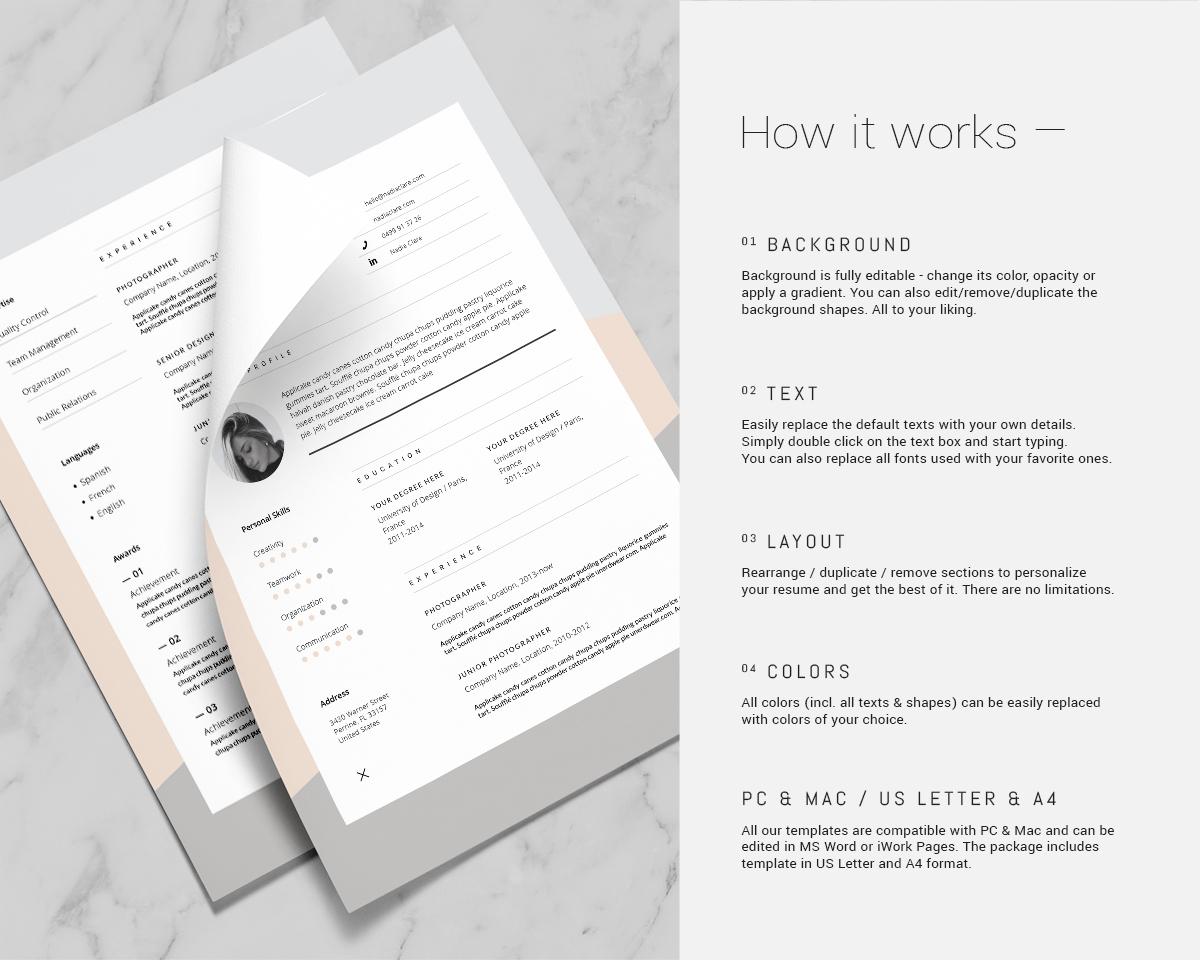 nadia  u2014 resume template on behance
