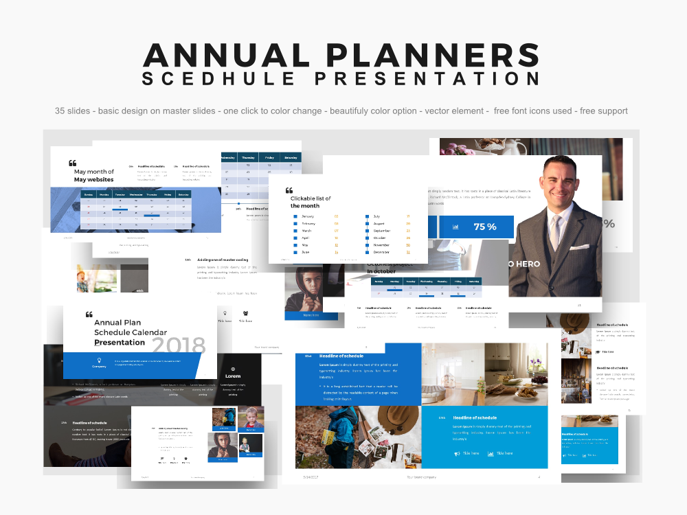 Anuual Planners Presentation Slides 2018 Powerpoint On Behance
