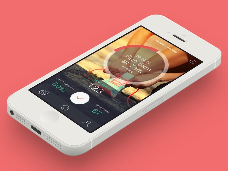 ios application Startup habits tracker running social Reading unplugging