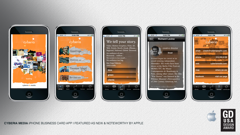 cyberia media iPhone Business APP on Behance
