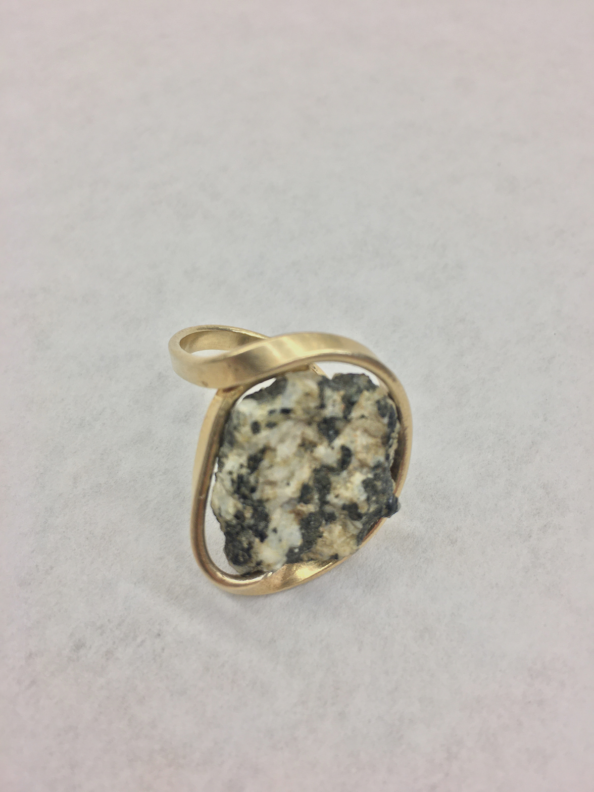 brass fluid forged metal jewelry natural stones rings river stones  stones