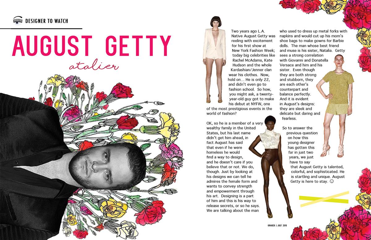 magazine mock Fashion  beauty editorial