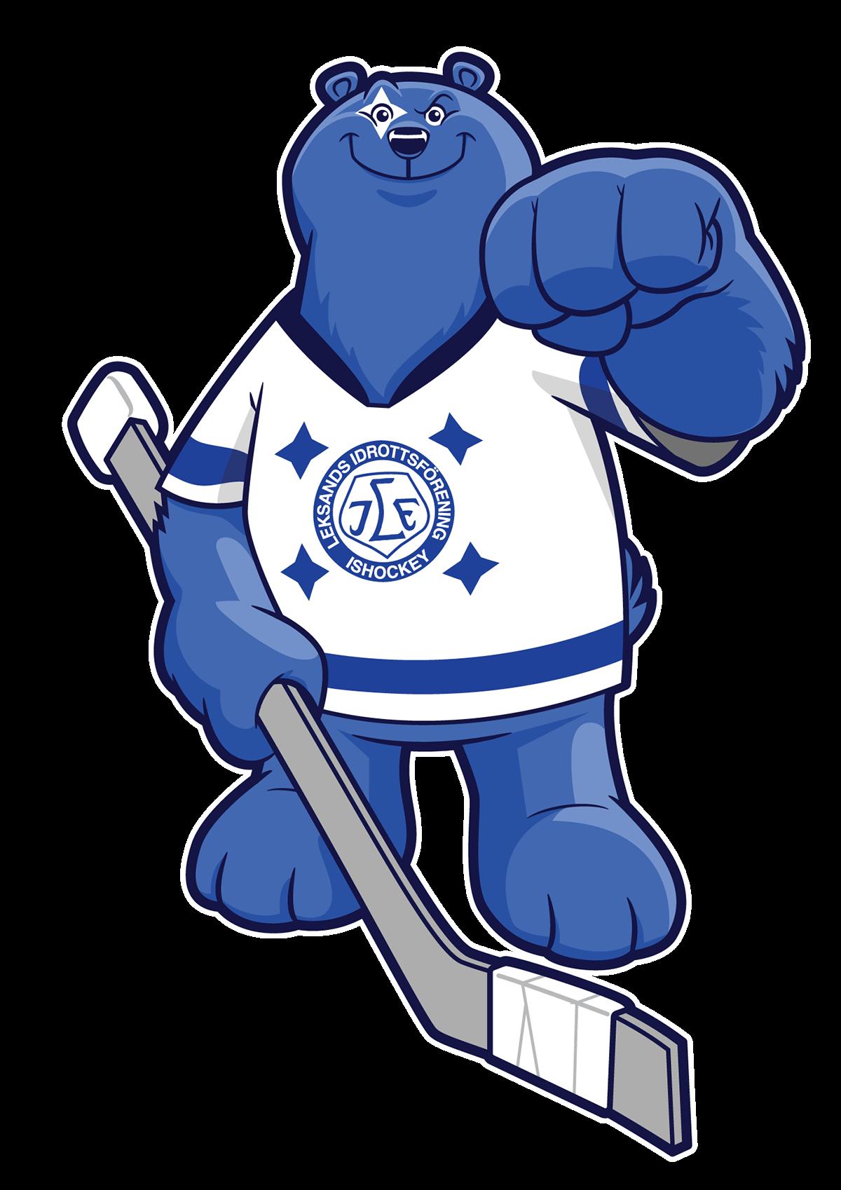 Leksands IF Hockey Mascot on Behance
