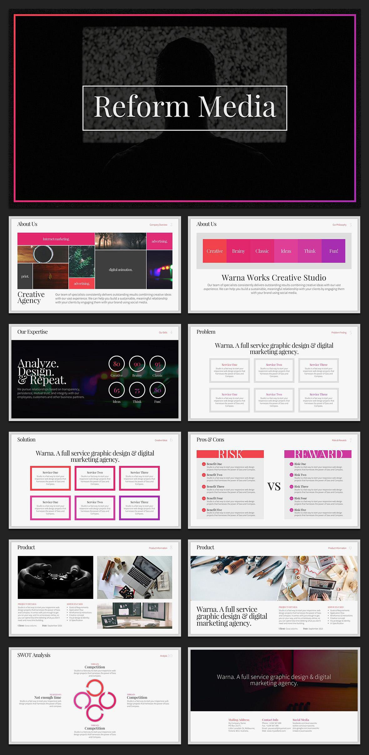 Reform Powerpoint Template Free Theme Available On Behance