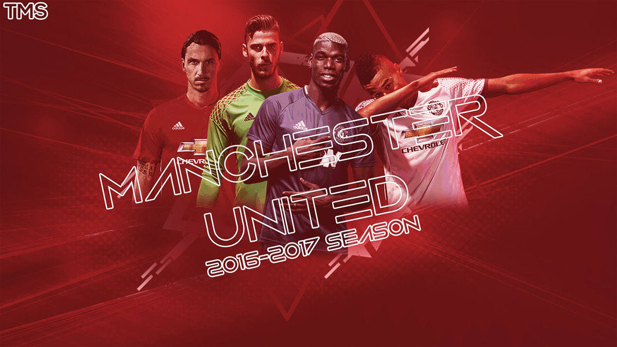 manchester united 20162017 season wallpaper on behance