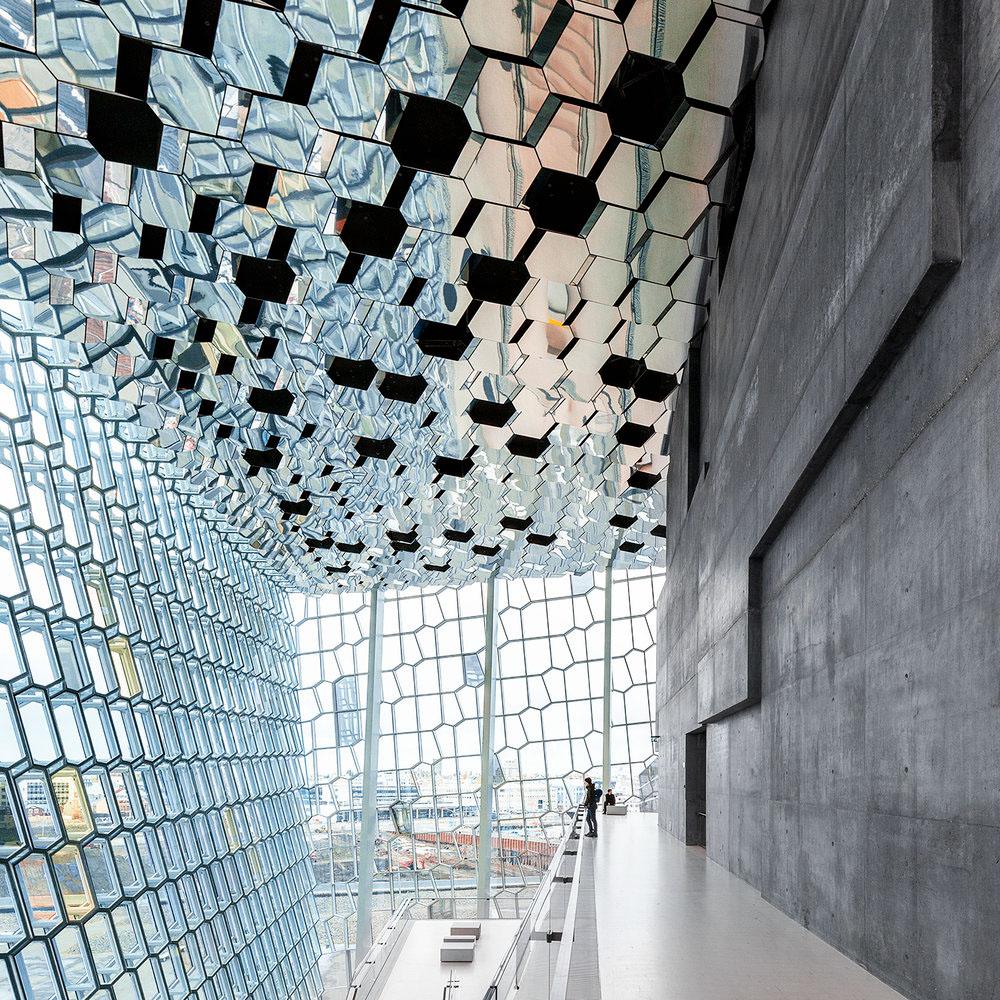 architecture Photography  iceland Reykjavik henning larsen Harpa architectural photography olafur eliasson exterior Interior