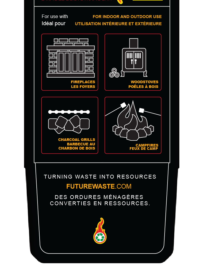 coffe grinds fire starter kindling Packaging