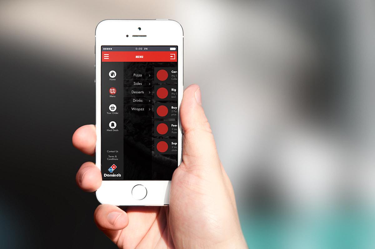 dominos Pizza Order app smartphone Native Shopping Food  restaurant