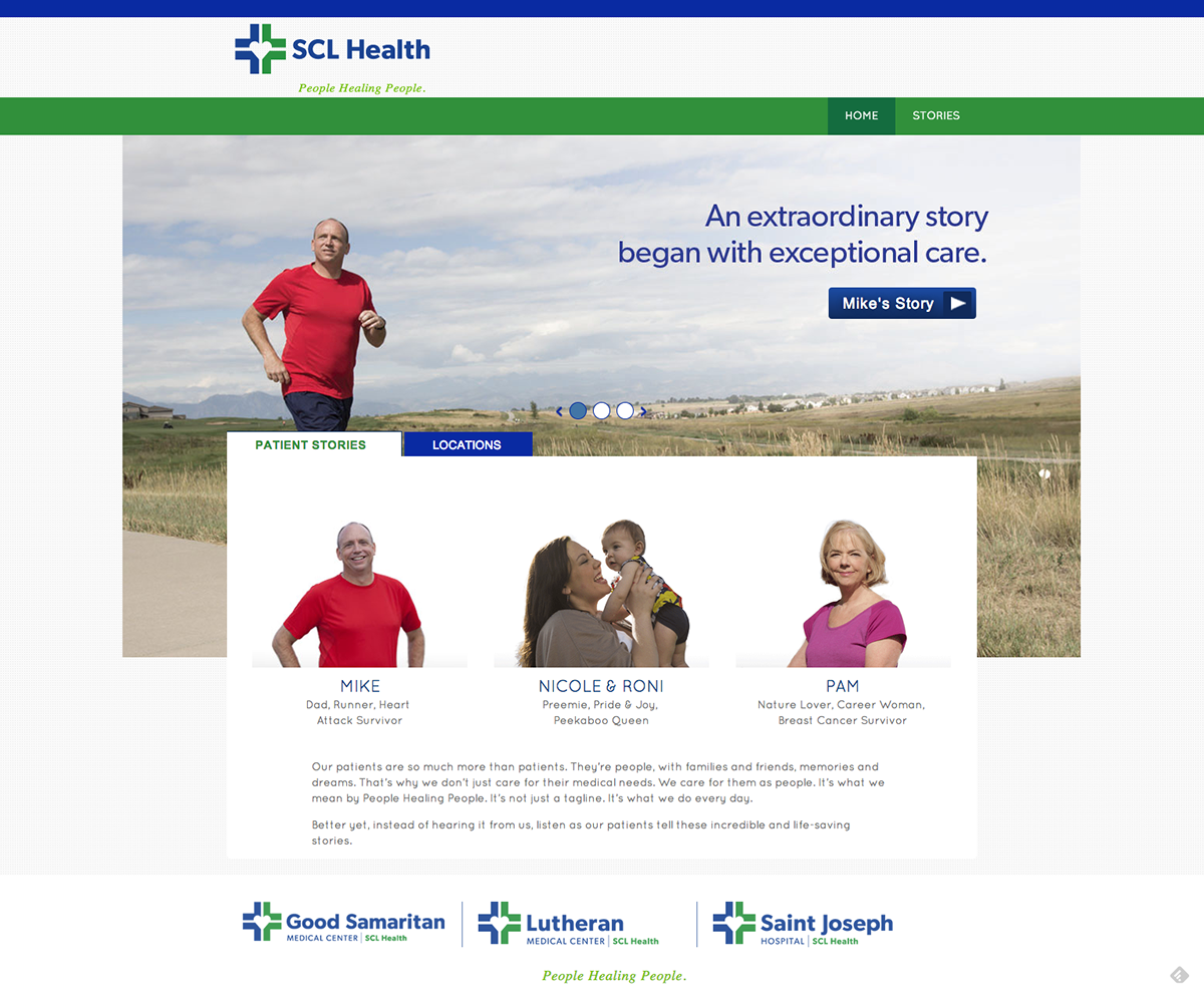 Health health care healthcare people campaign healing Testimonials Stories storytelling