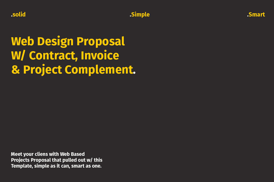 web design proposal w project complement on behance