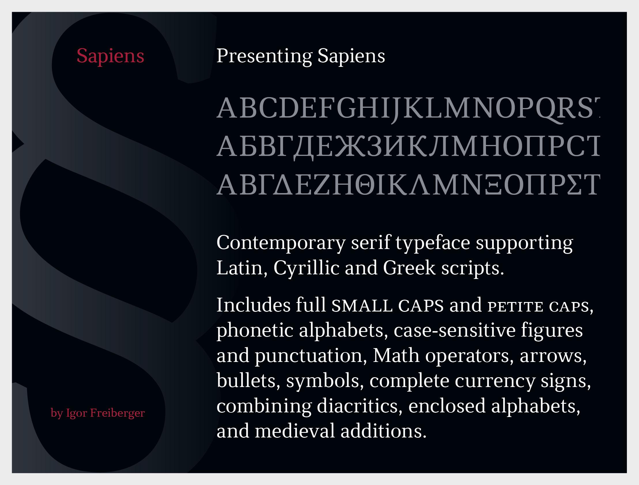 Sapiens serif typeface on behance biocorpaavc