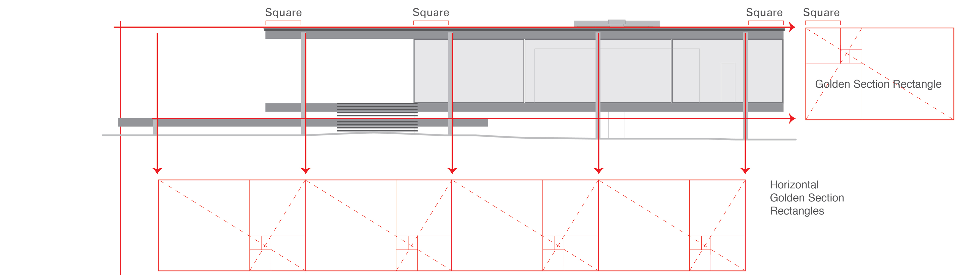 farnsworth house plans sections and elevations