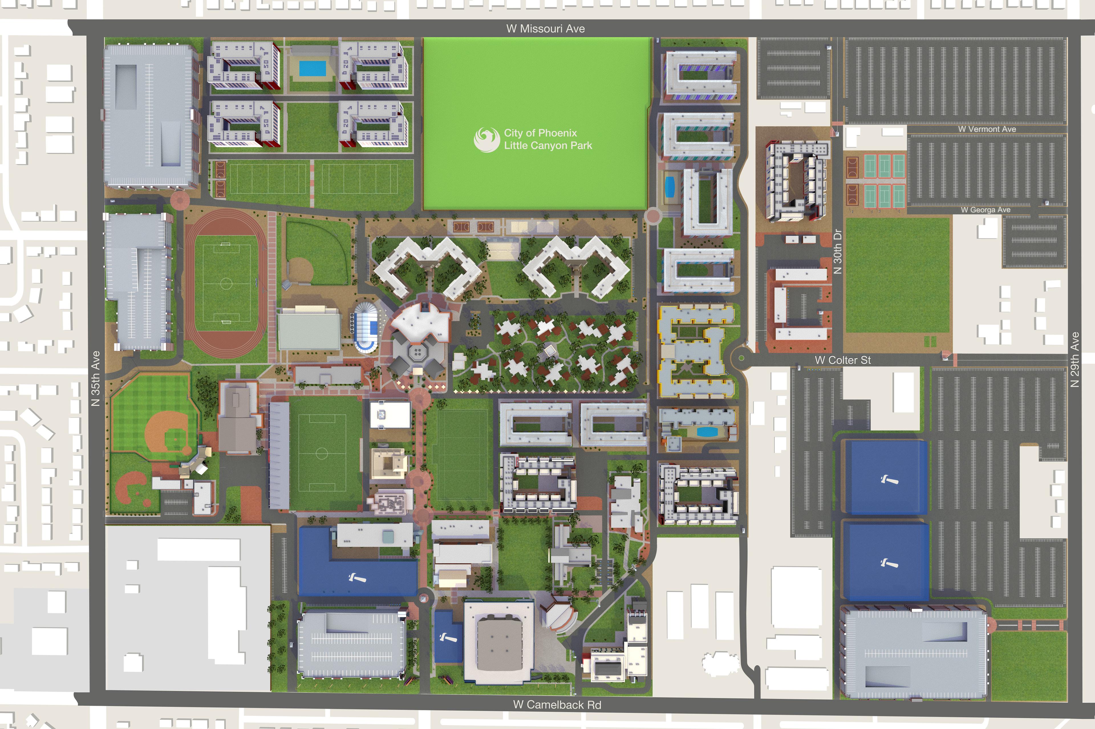 Gcu Campus Map GCU Interactive Campus Map on Behance Gcu Campus Map