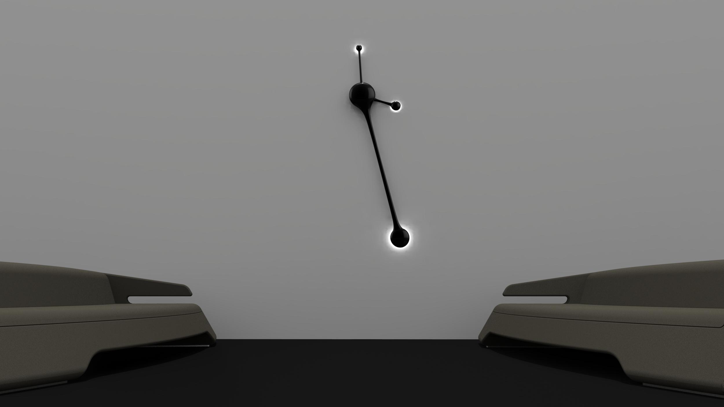 futuristic wall clock choice image