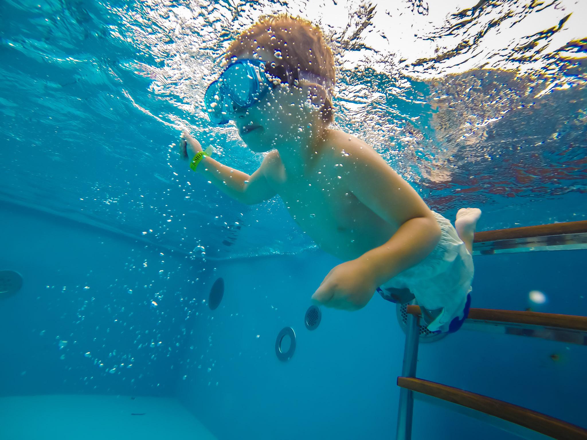 Child Under water