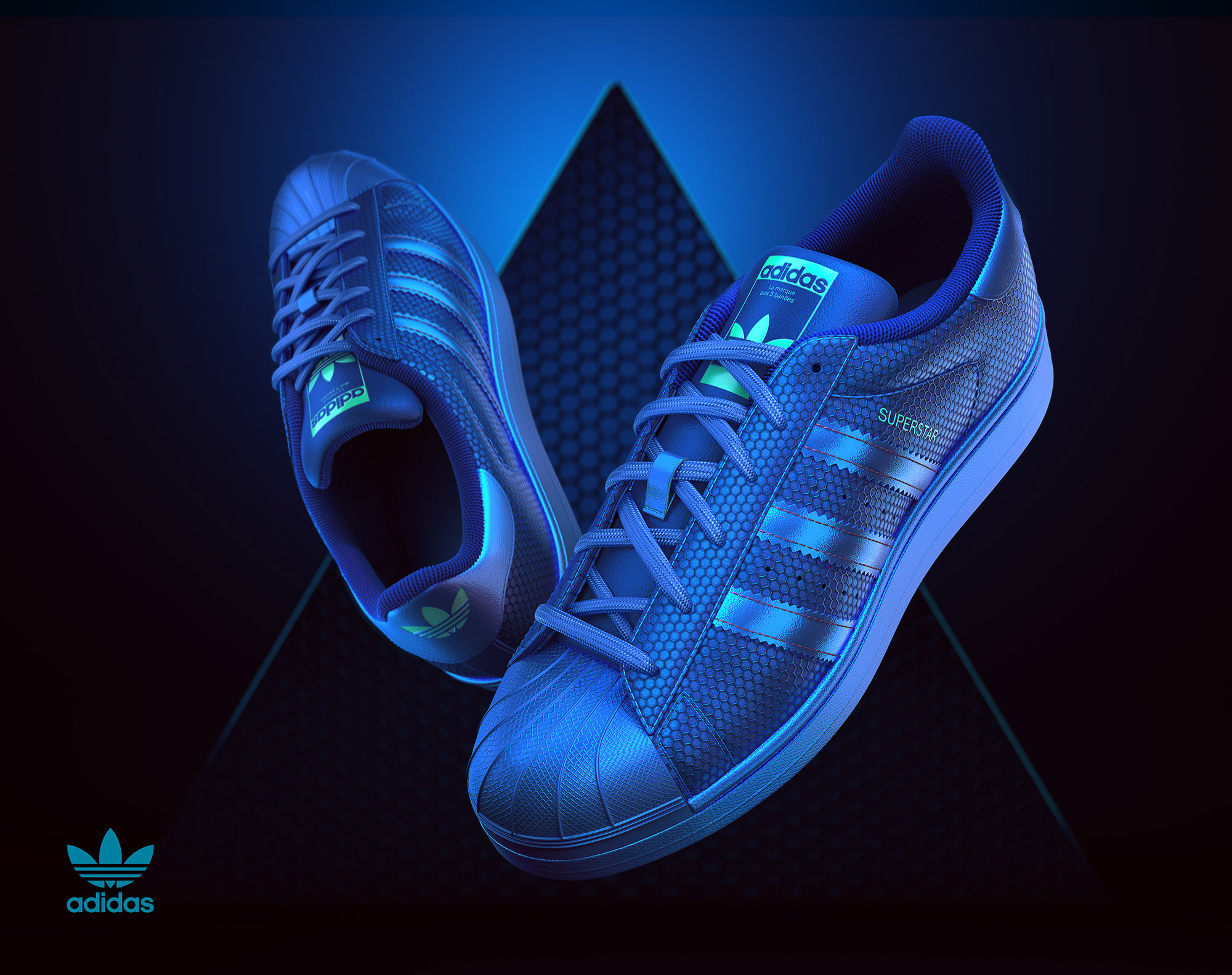 low priced c0601 fb300 CGI Product Visualization - Adidas Superstar on Behance