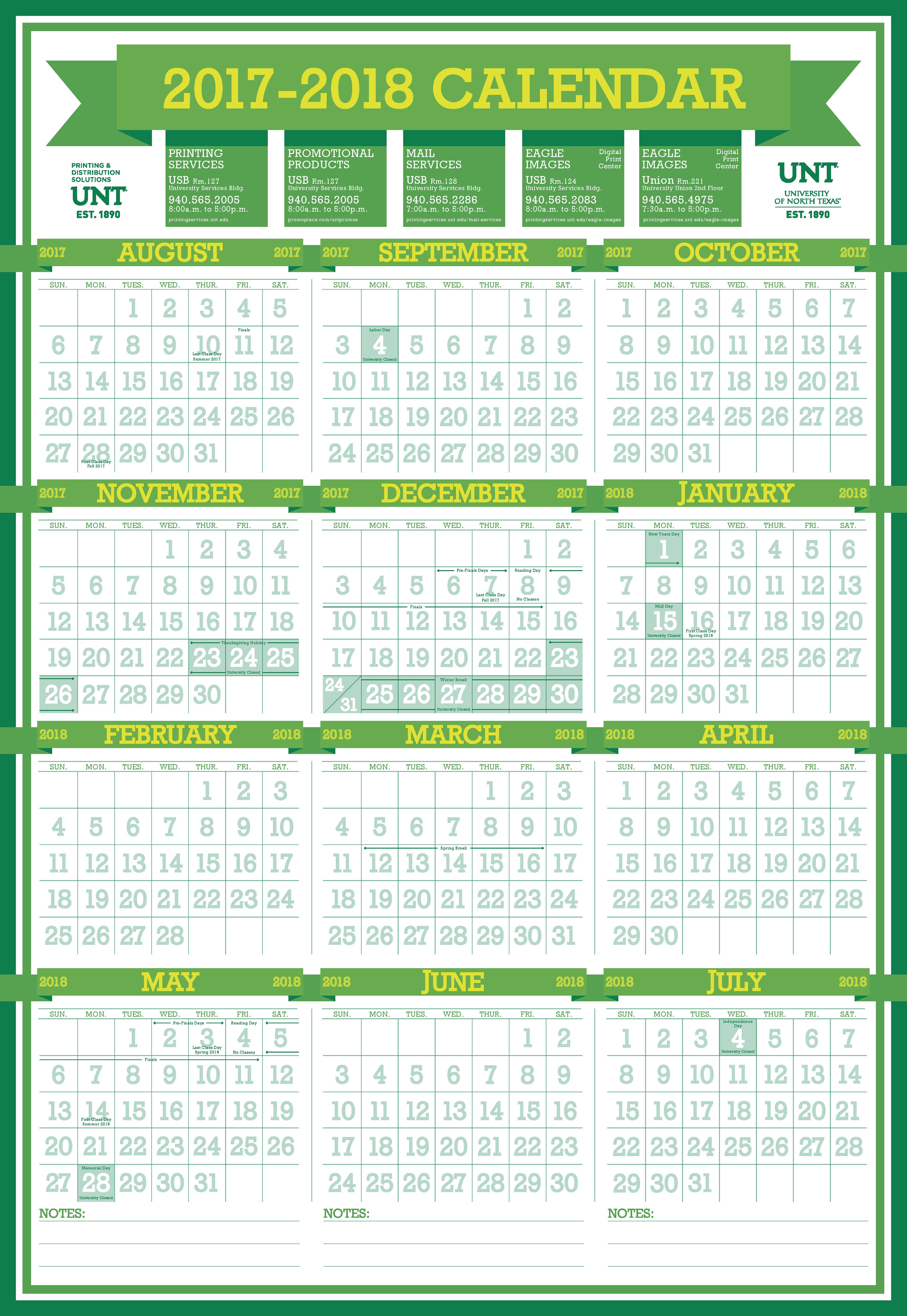 Unt Calendar Fall 2017 Www Topsimages Com