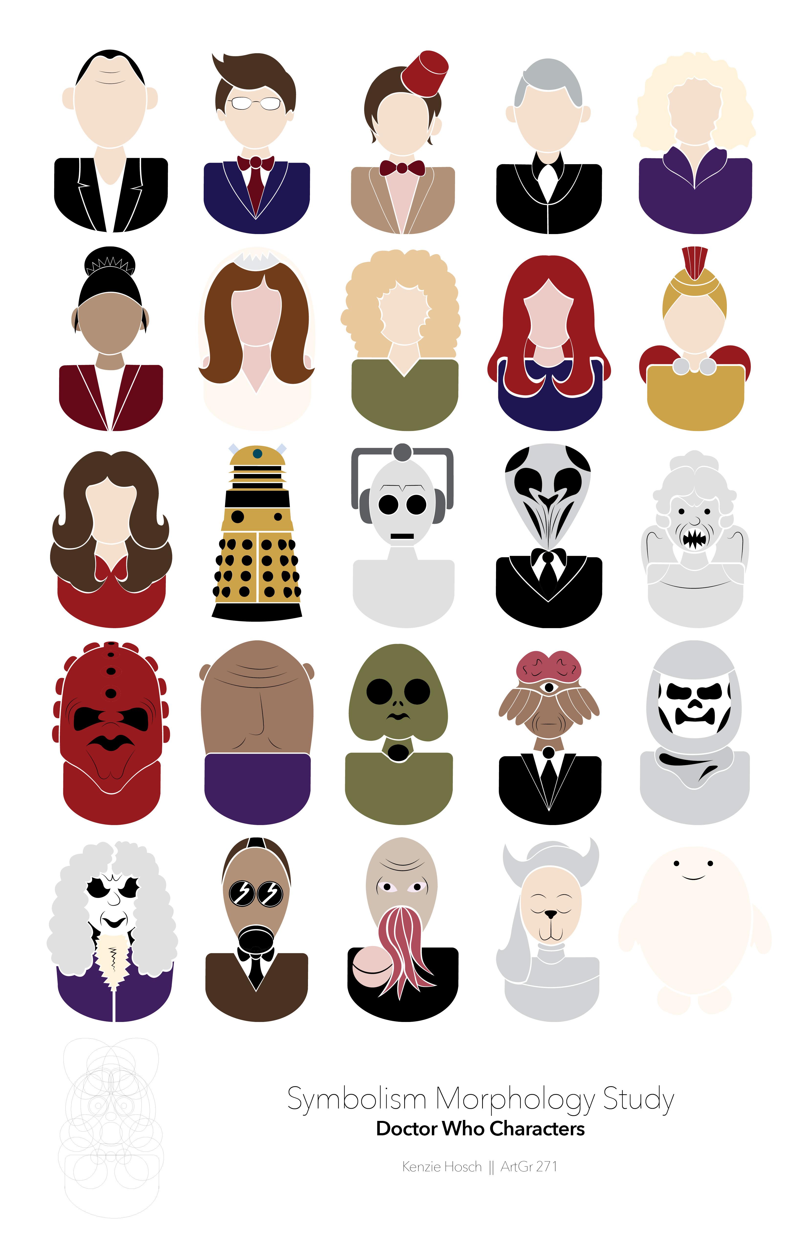 Kenzie Hoschs Portfolio Doctor Who Symbol Set