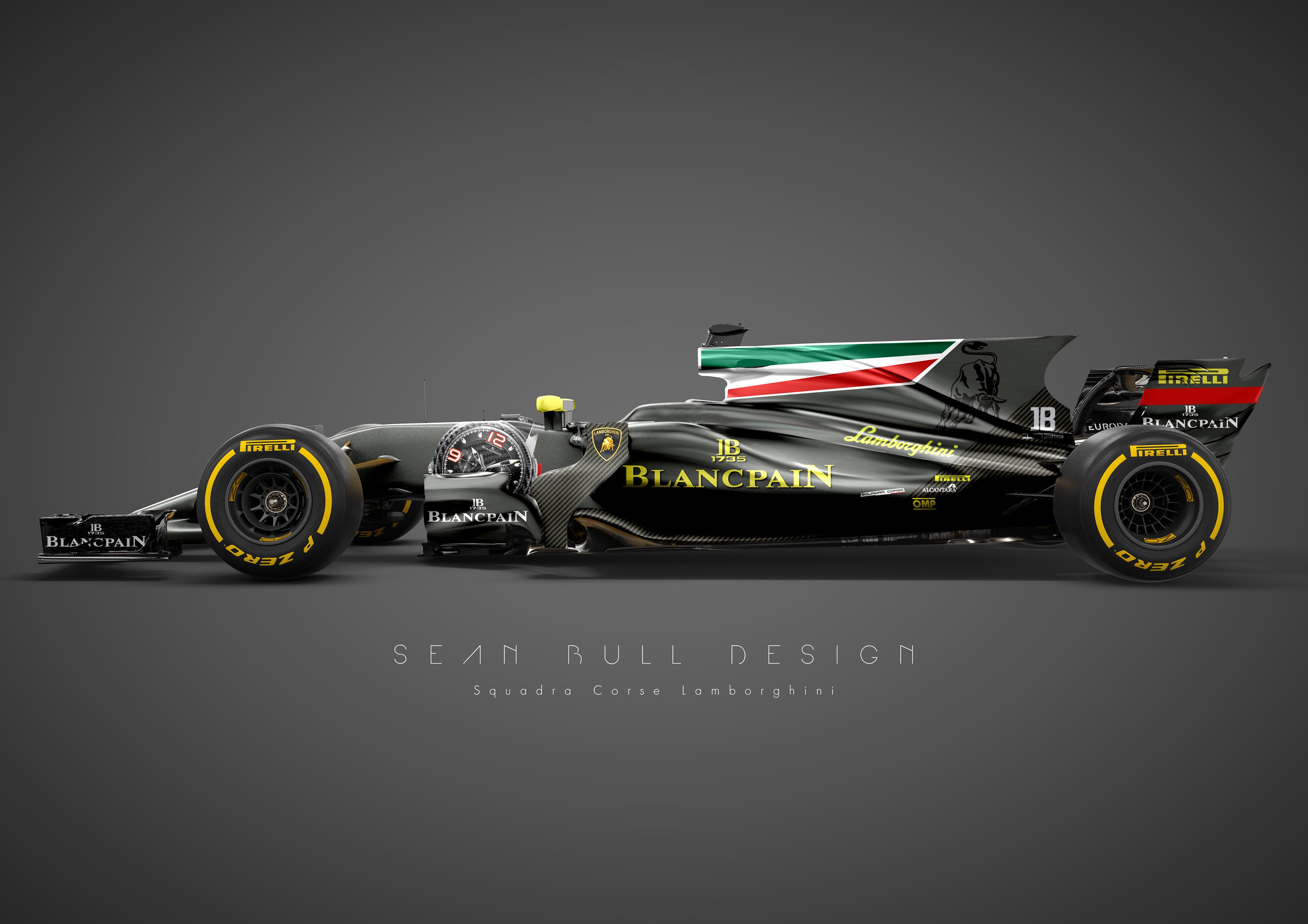 Lamborghini F1 Livery Concept On Behance