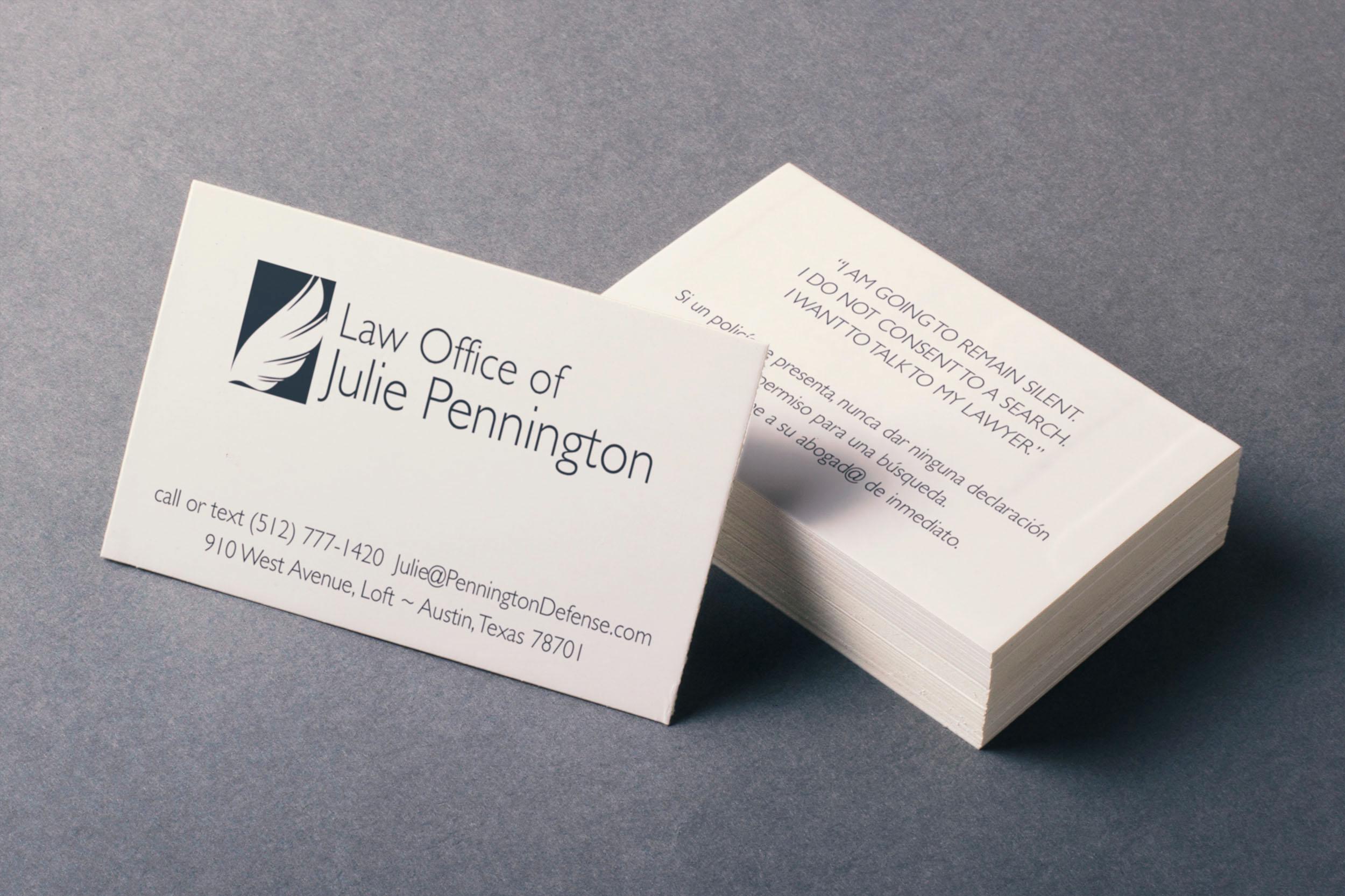 julie pennington criminal defense branding 2016 on behance