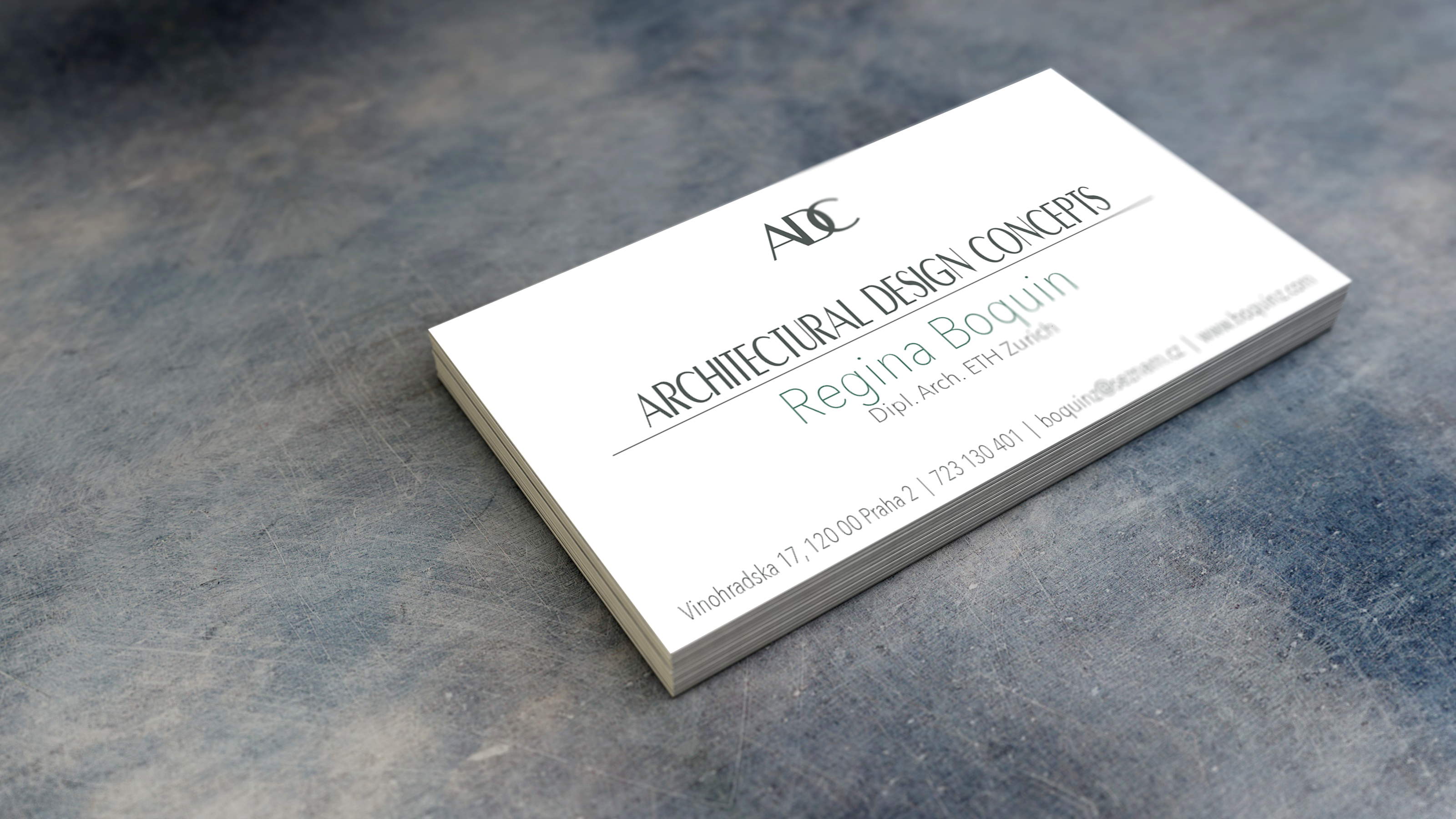 Regina Boquin Architecture Business Cards on Behance