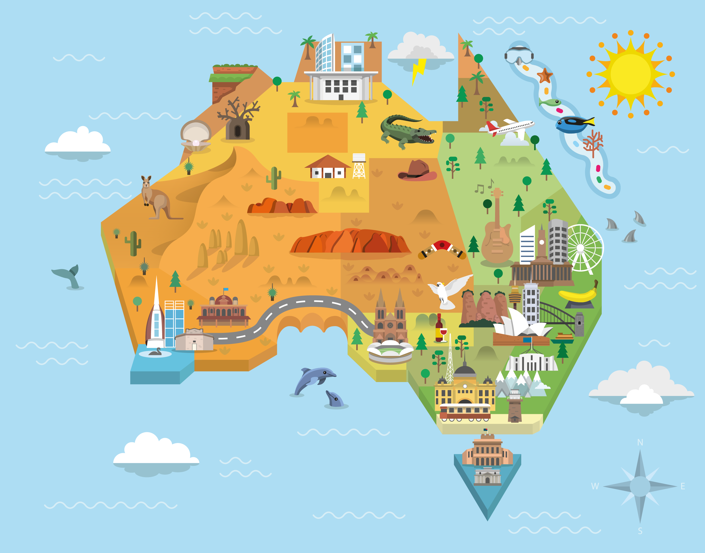 Map Of Australia Images.Australia Graphic Map On Behance