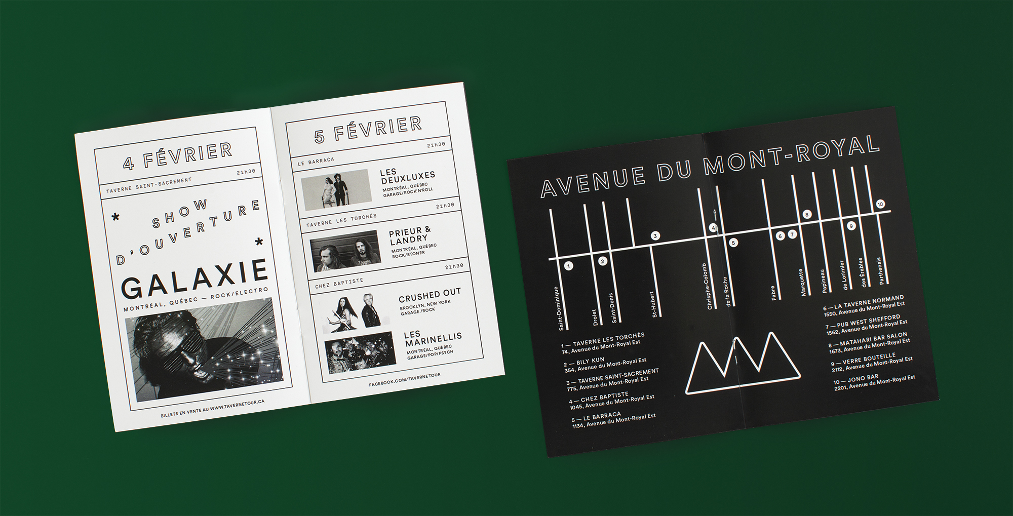 Taverne tour brand identity on behance