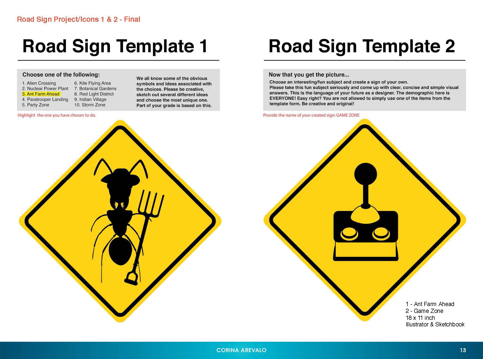road signs on behance