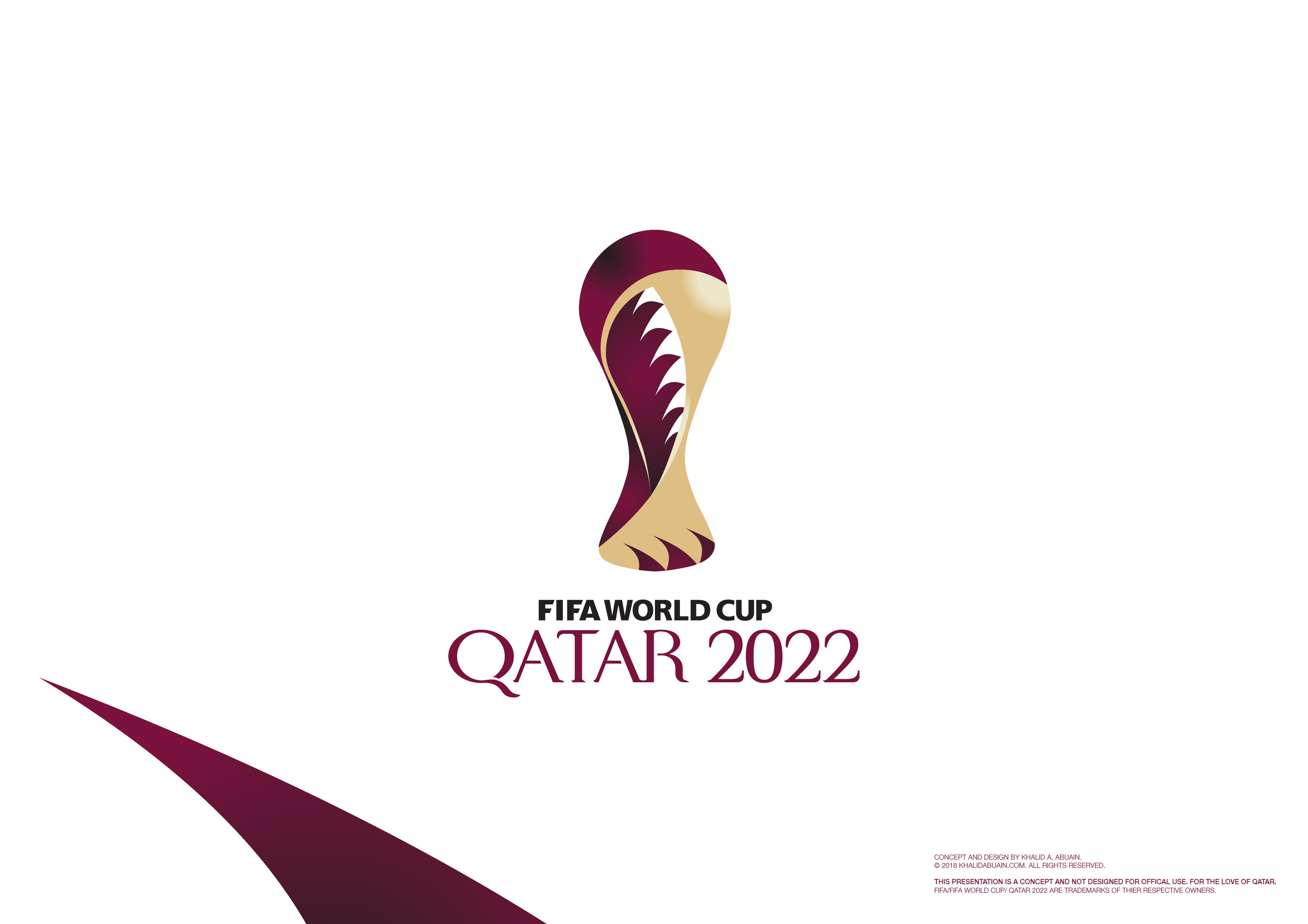 qatar 2022 branding concept unofficial on behance
