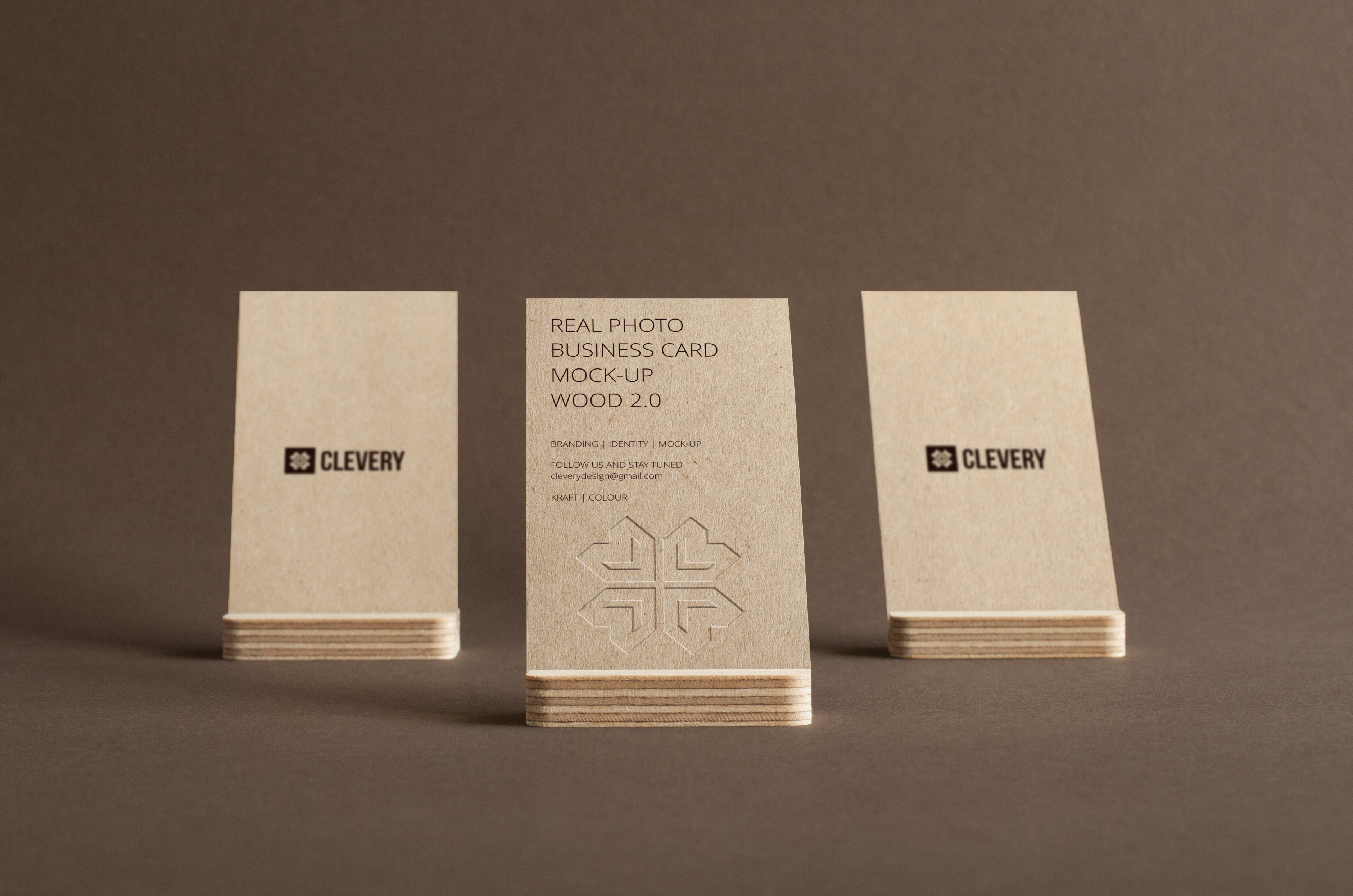 Branding / Identity / Business Card Mock-Up Wood 2.0 on Behance
