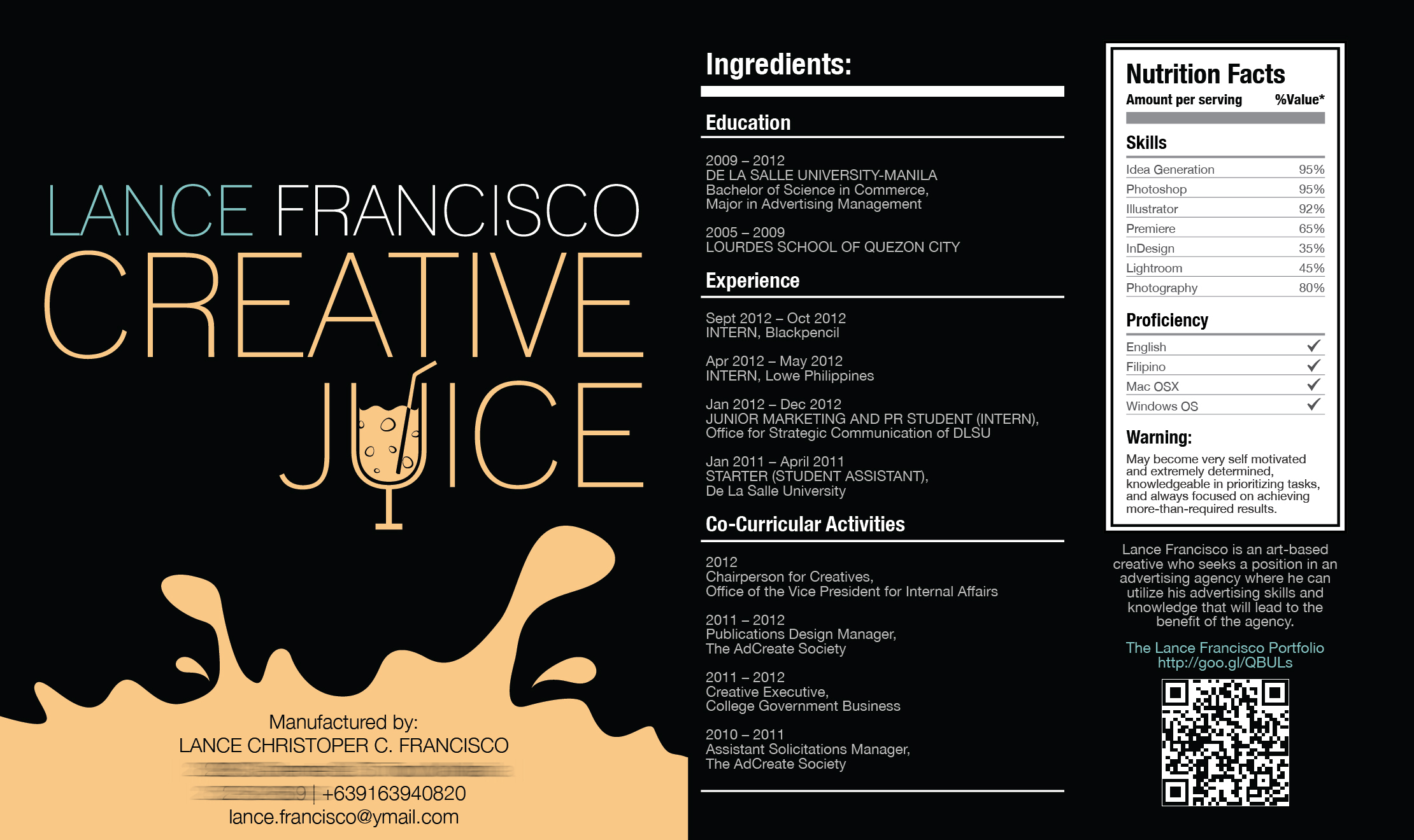 Creative Juice Resume on Behance