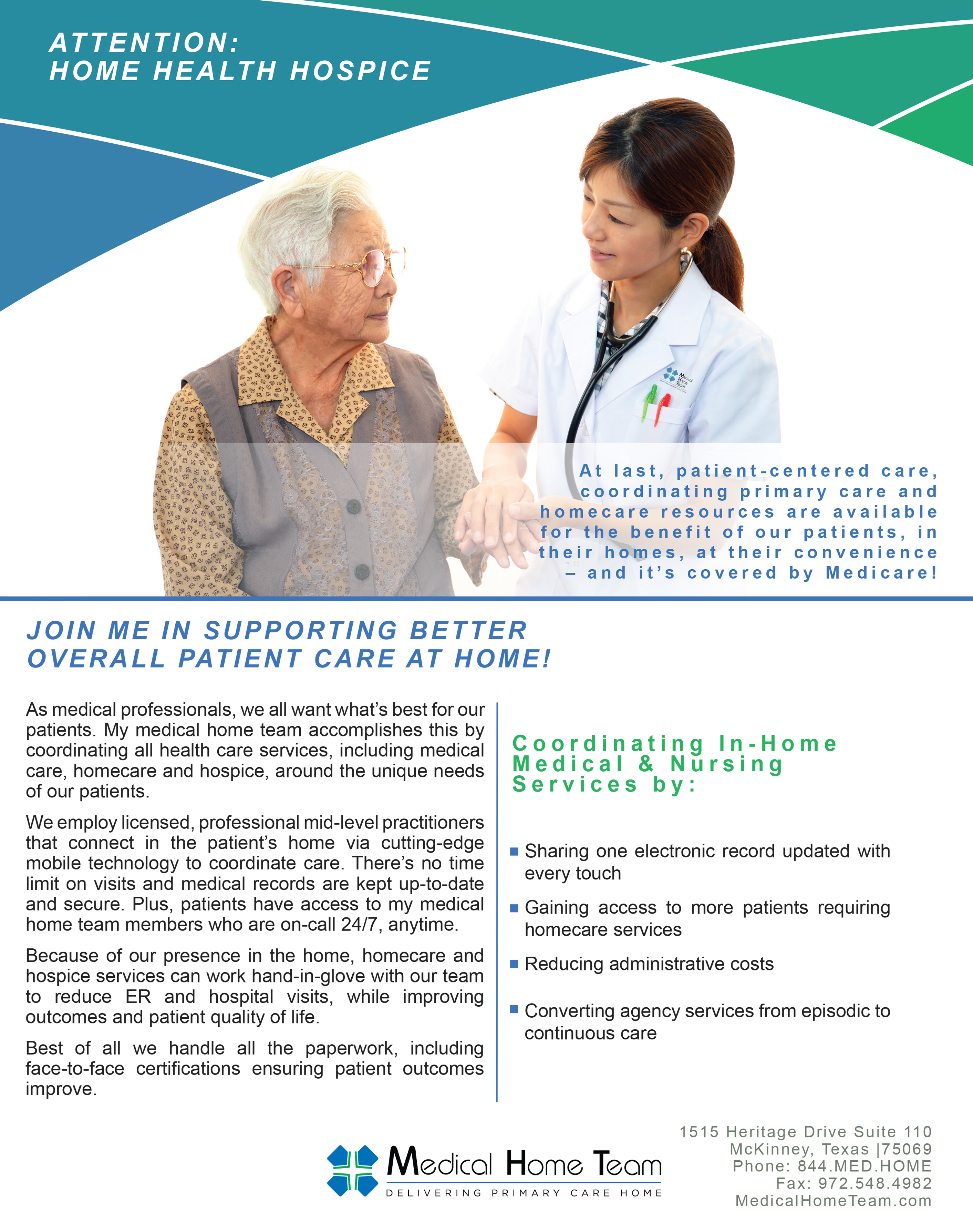 Jessica Smith Home Health Recruiting Flyer