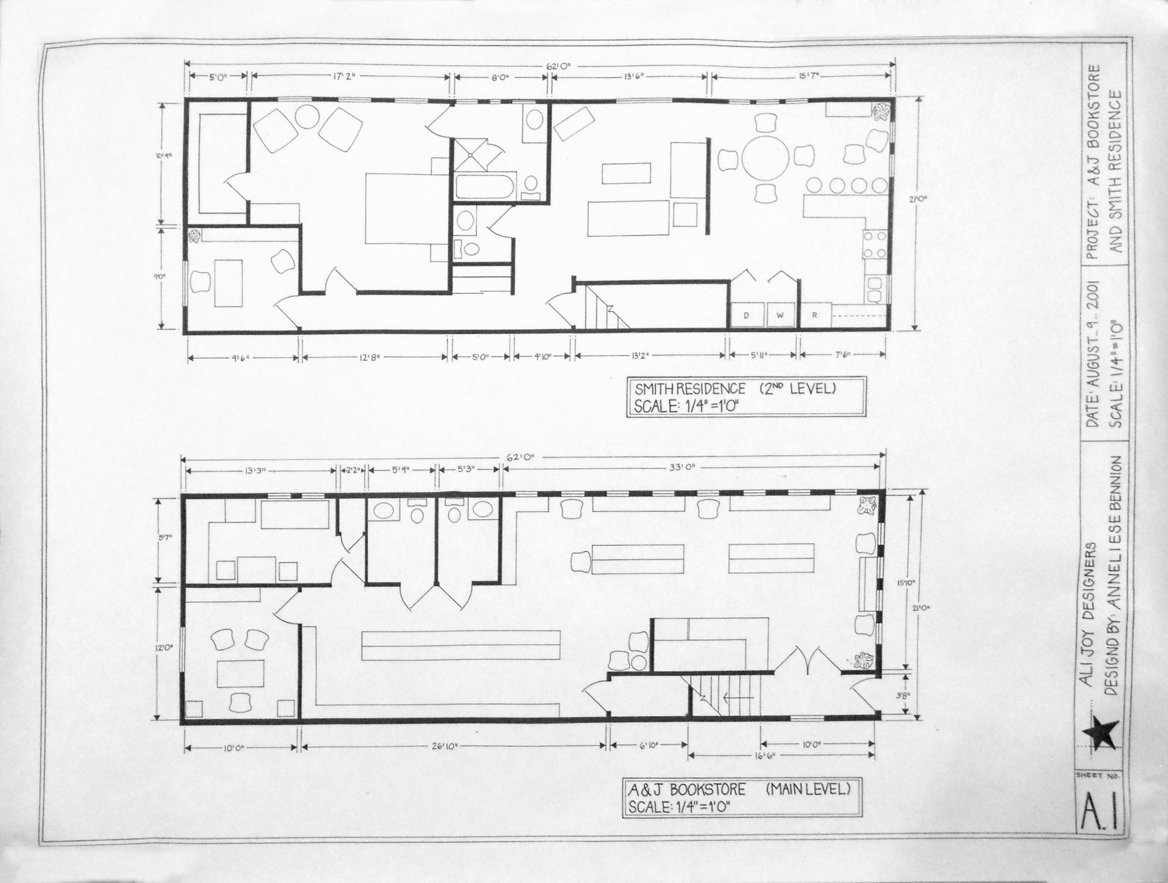 Anneliese bennion a j bookstore smith residence this is the hand drawn blueprint for a custom designed bookshelf for the book store malvernweather Gallery