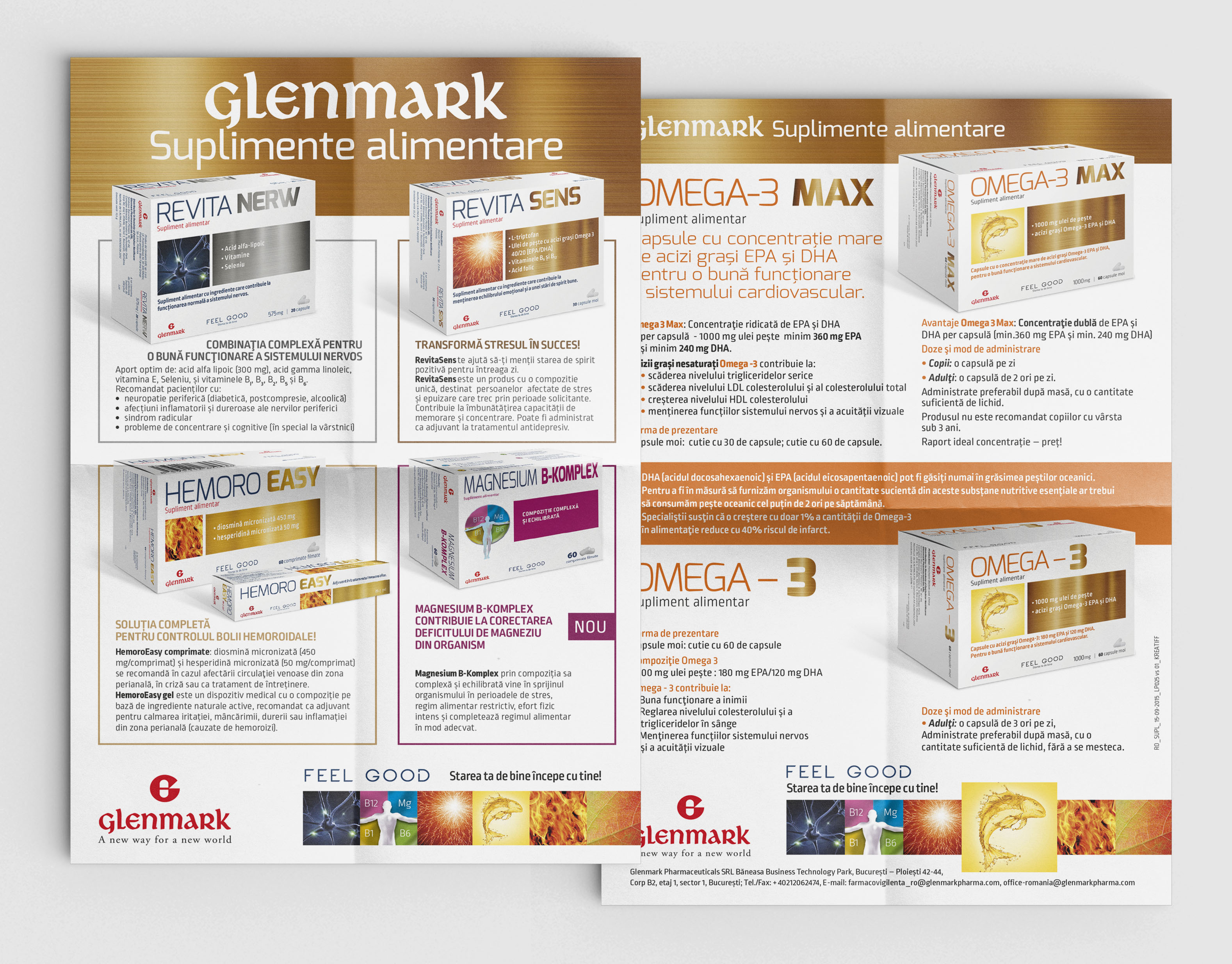 Brochure Flyers For Glenmark Supplements On Behance Ner V Ori