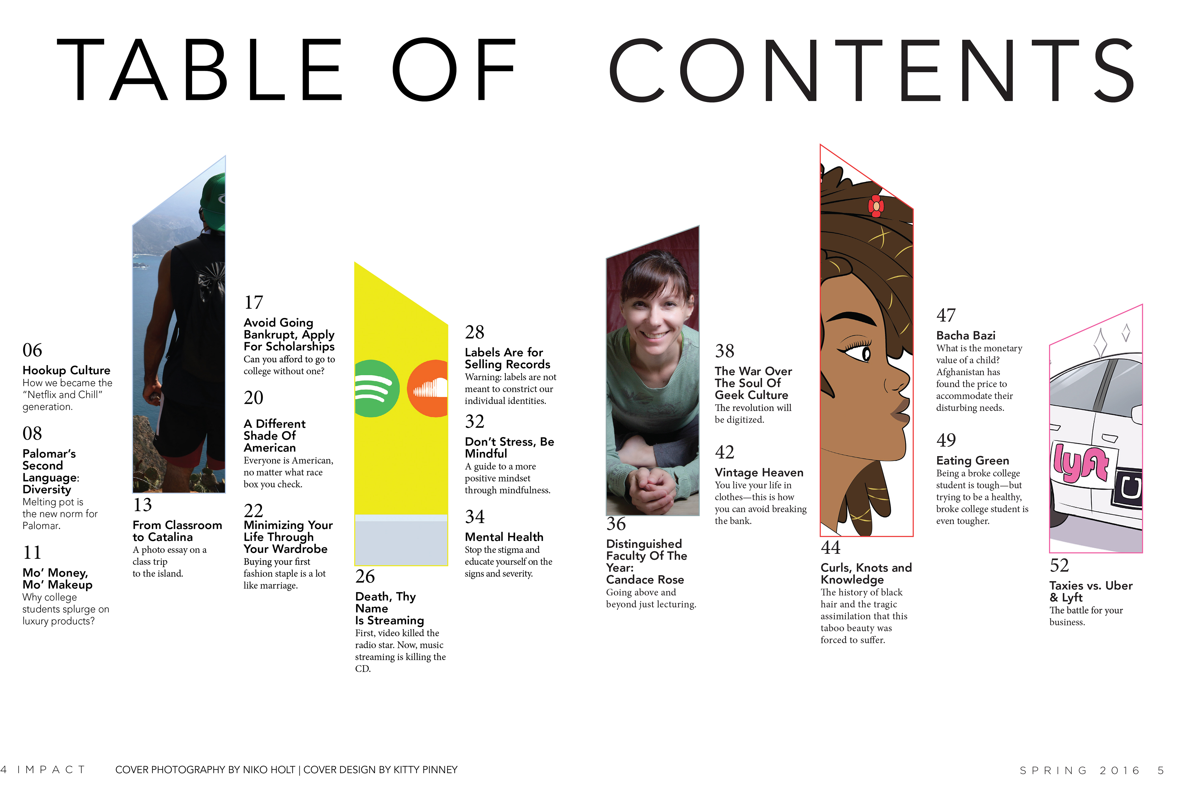 Kylie Dukes Table Of Contents Impact Magazine