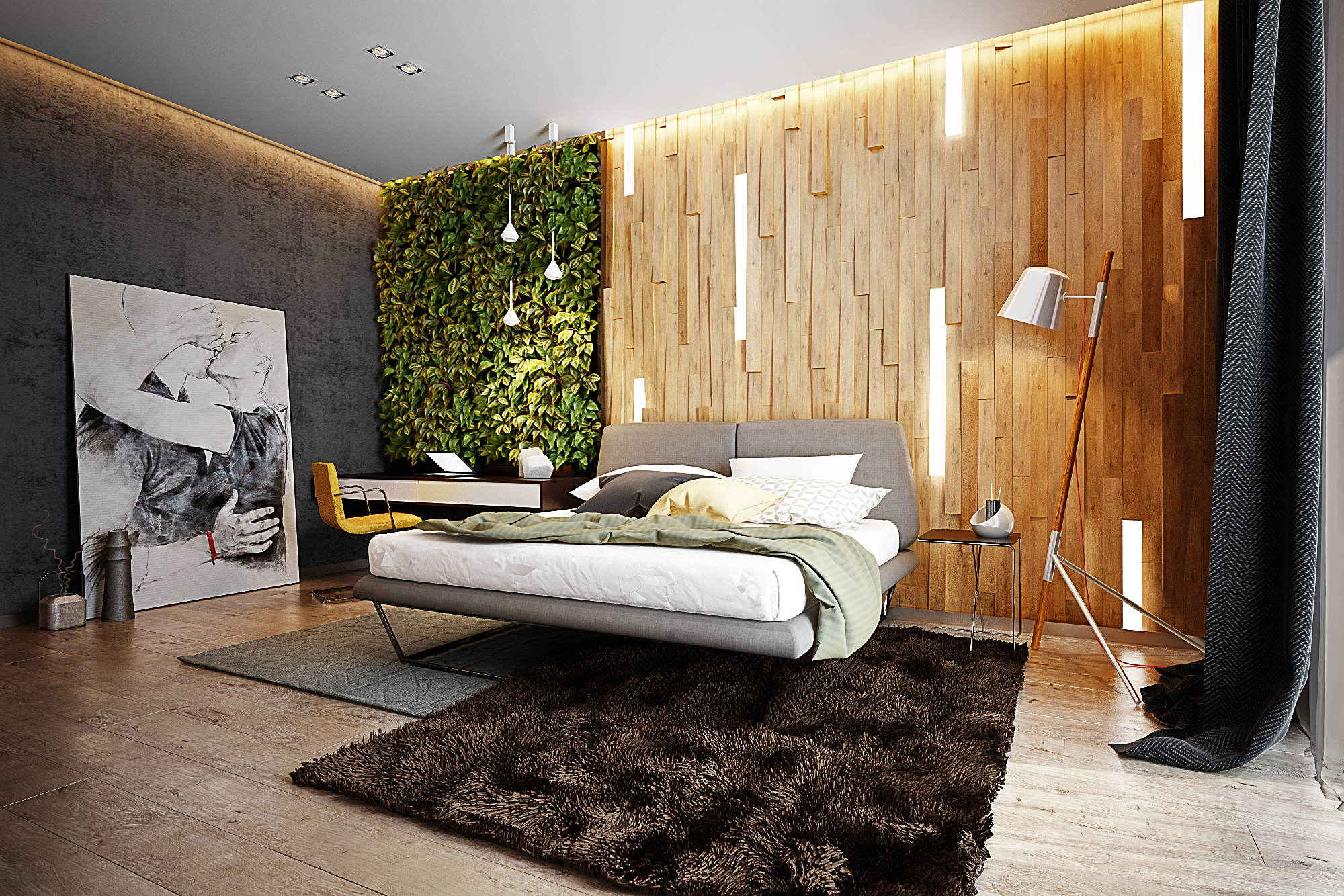 . Eco style bedroom on Behance
