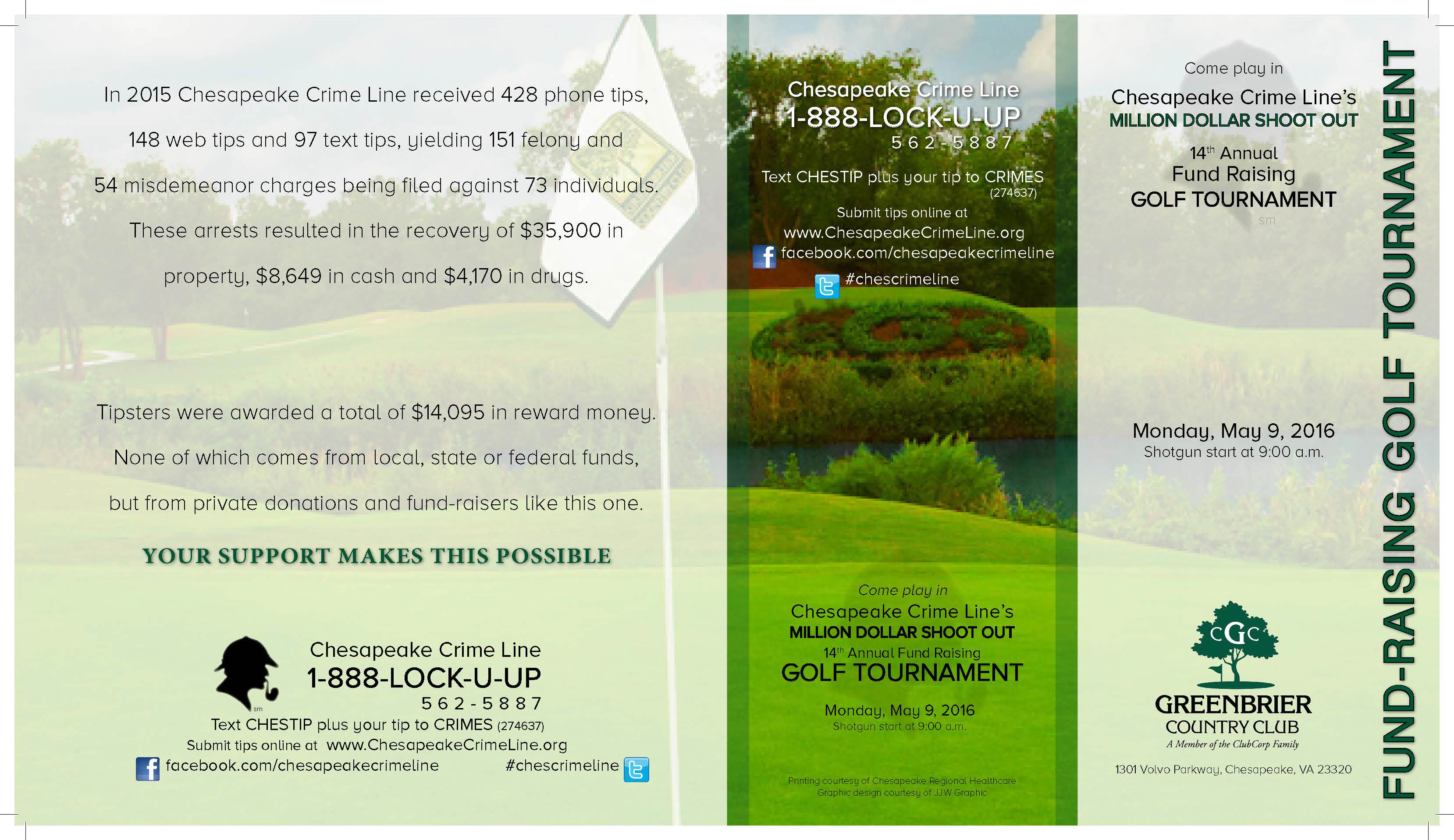 Donating The Design Of The Chesapeake Crime Lineu0027s Annual Fund Raising Golf  Tournament Brochure Since 2006 Has Been My Honor And My Way Of Giving Back  To My ...