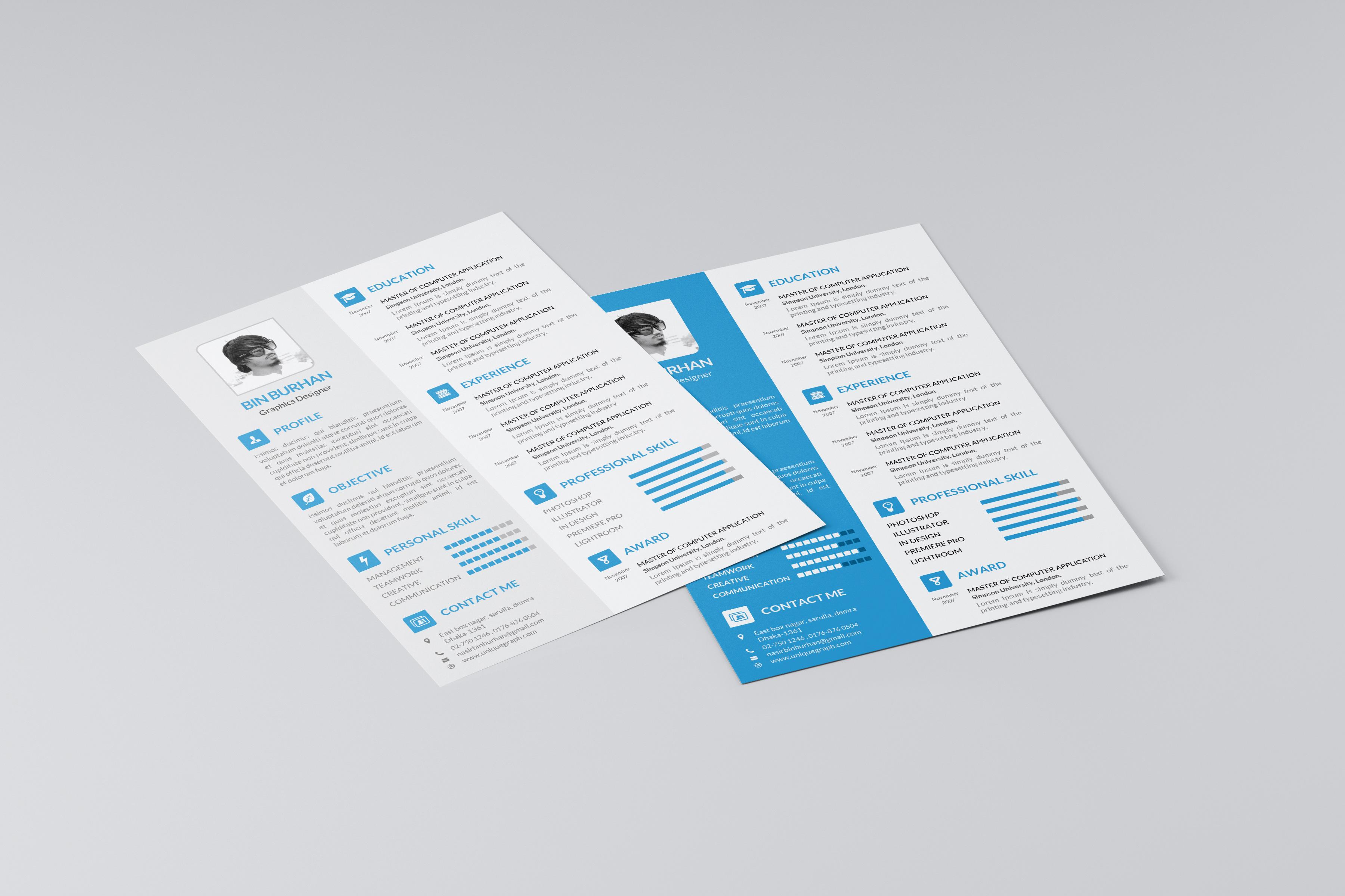 bie resume template cv on behance