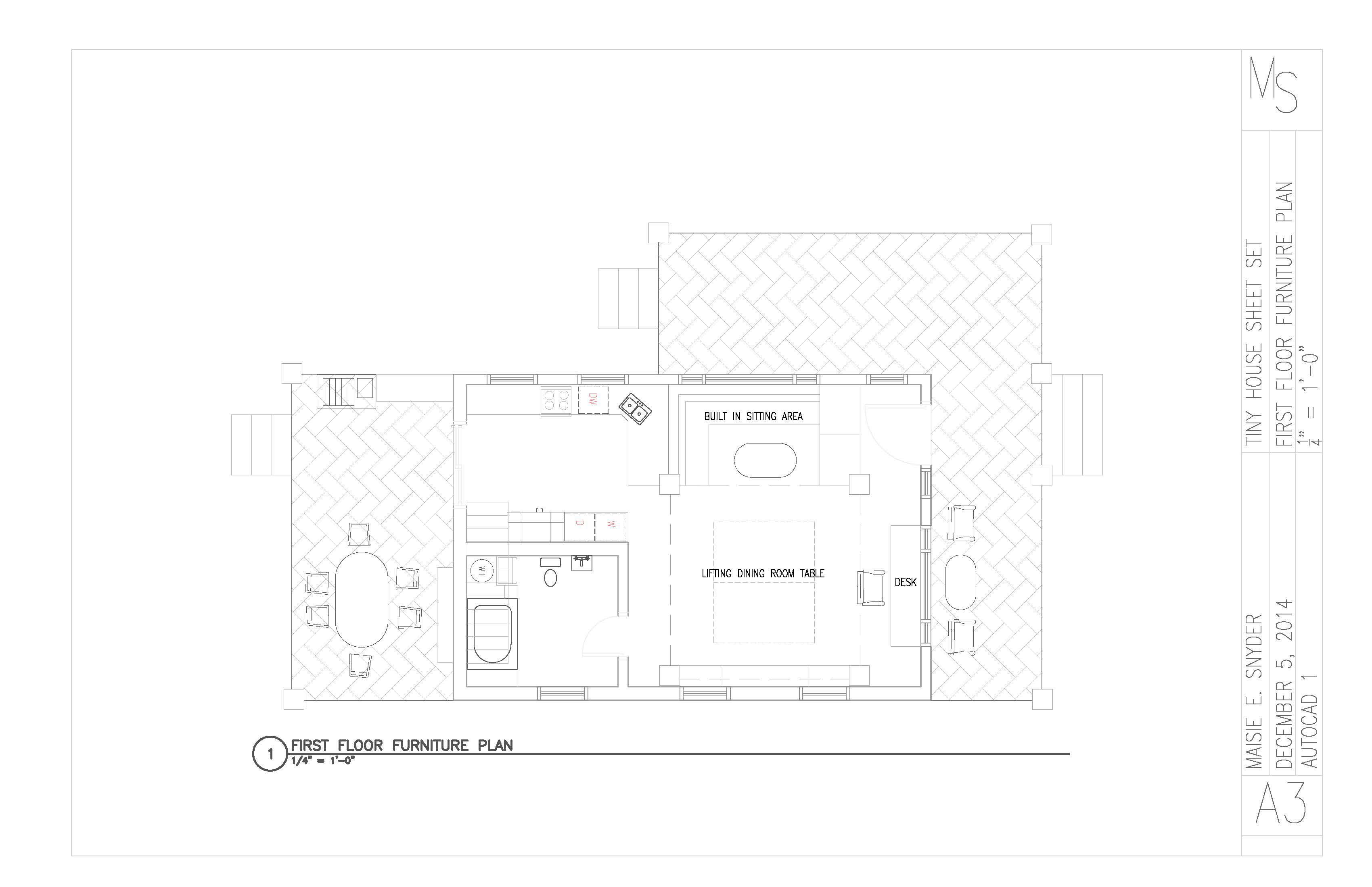 Maisie Snyder - AutoCAD Architecture: Tiny House Sheet Set