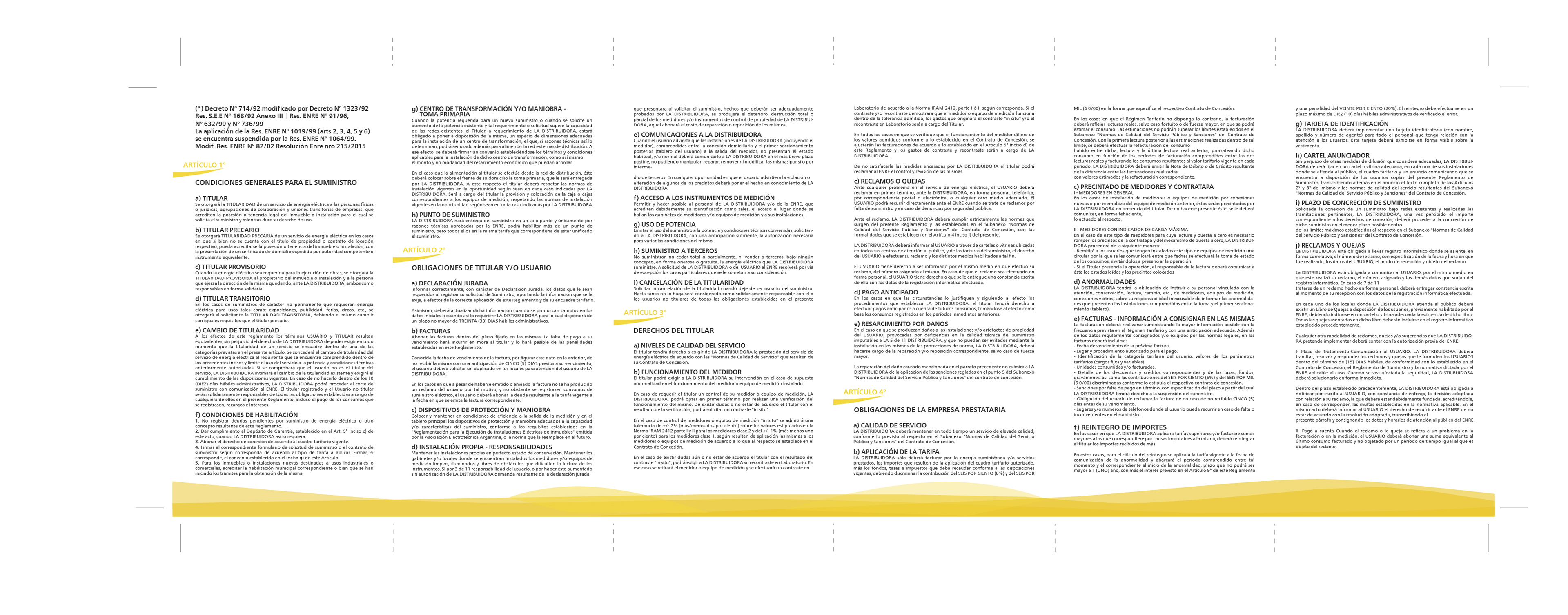 Reglamento de suministro de energía eléctrica on Behance