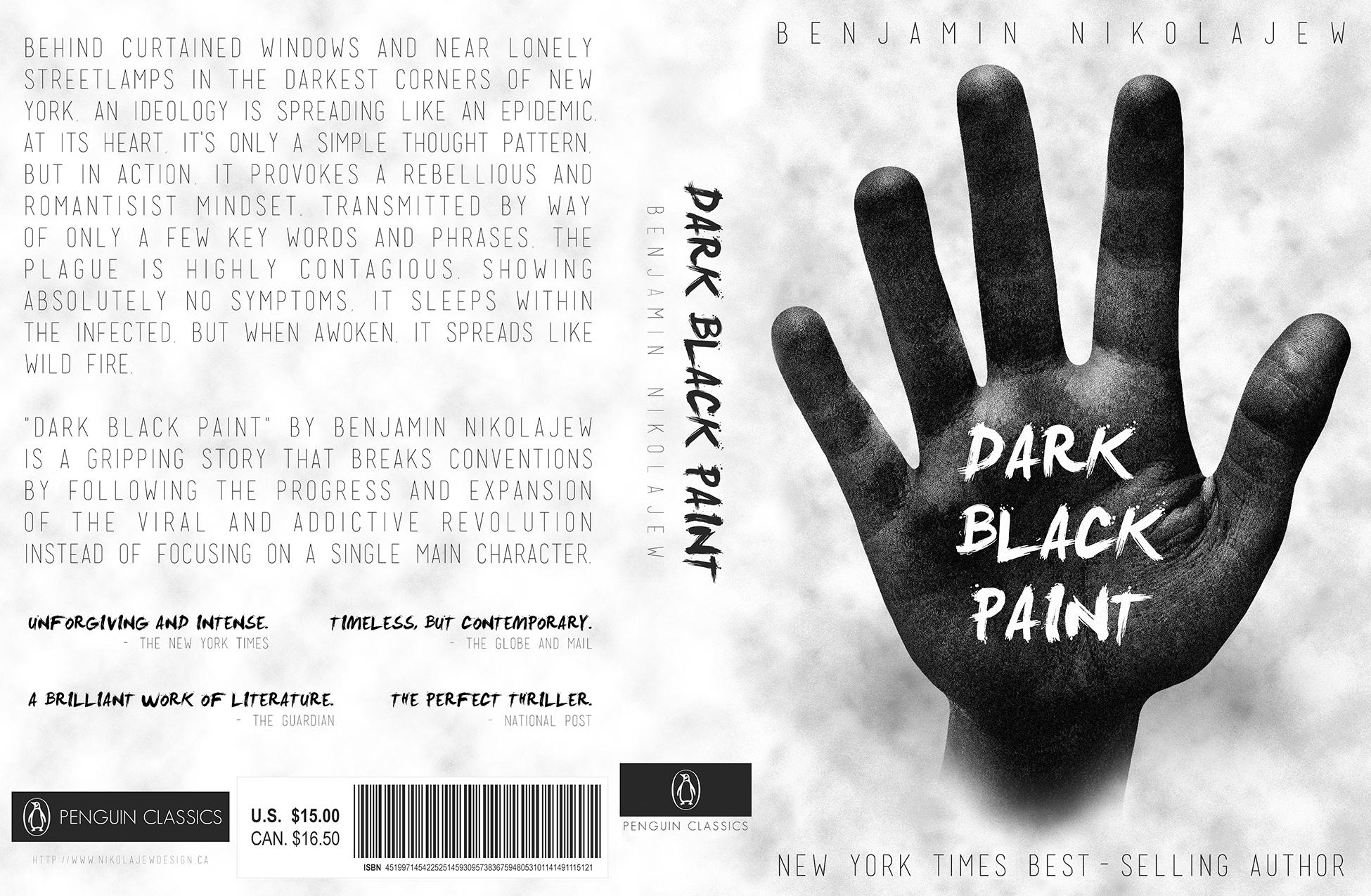 Book Cover Black Paint : Nikolajew design quot dark black paint book cover