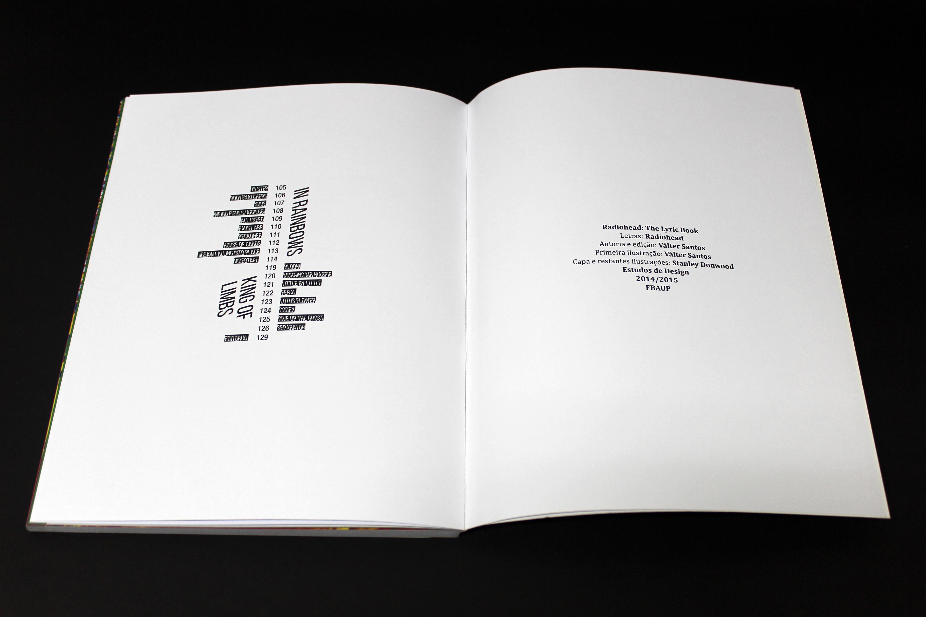 Radiohead The Lyric Book On Behance