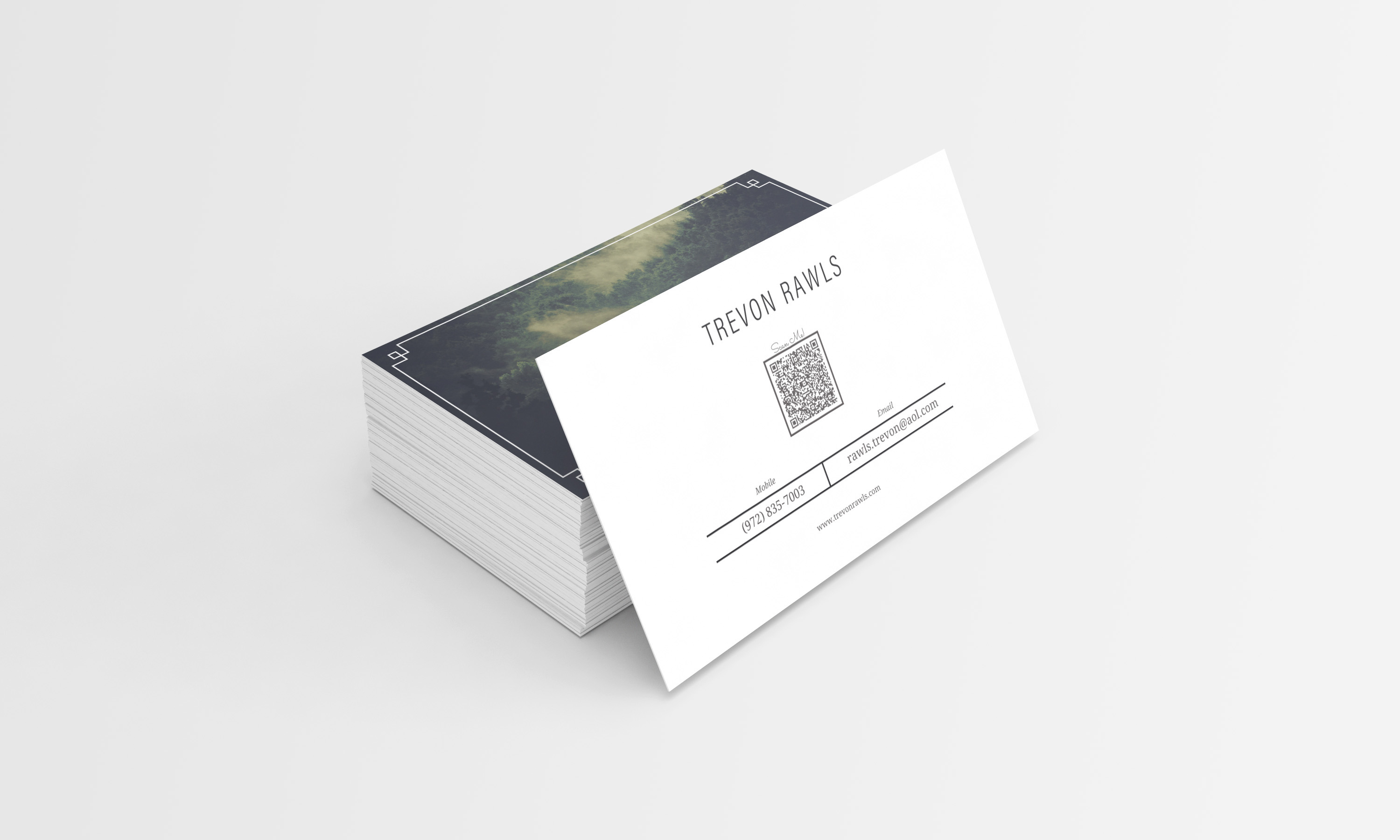 Trevon rawls personal business card personal business card colourmoves Images