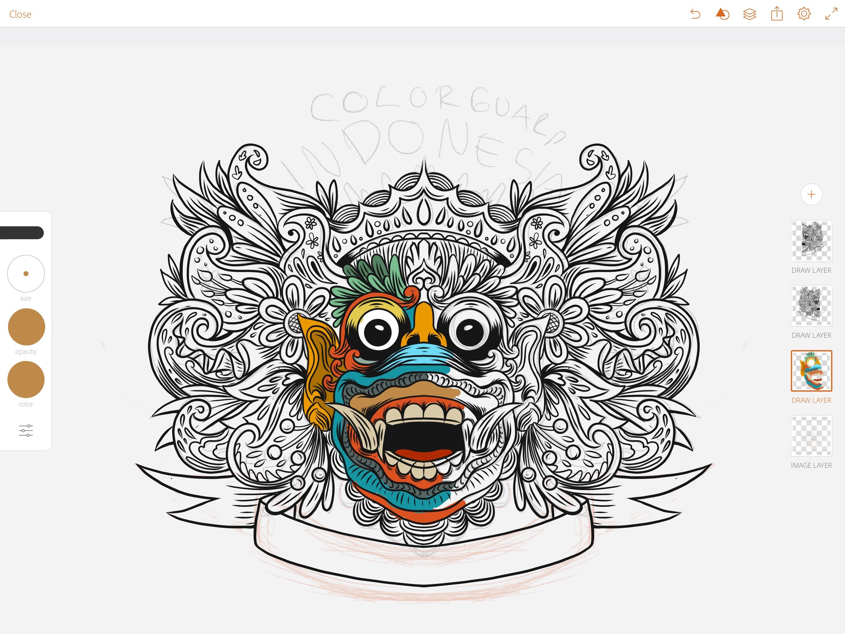 Co color to draw - Co Color Guard Artwork Create Vector Online On Adobe Draw App Blocking Color