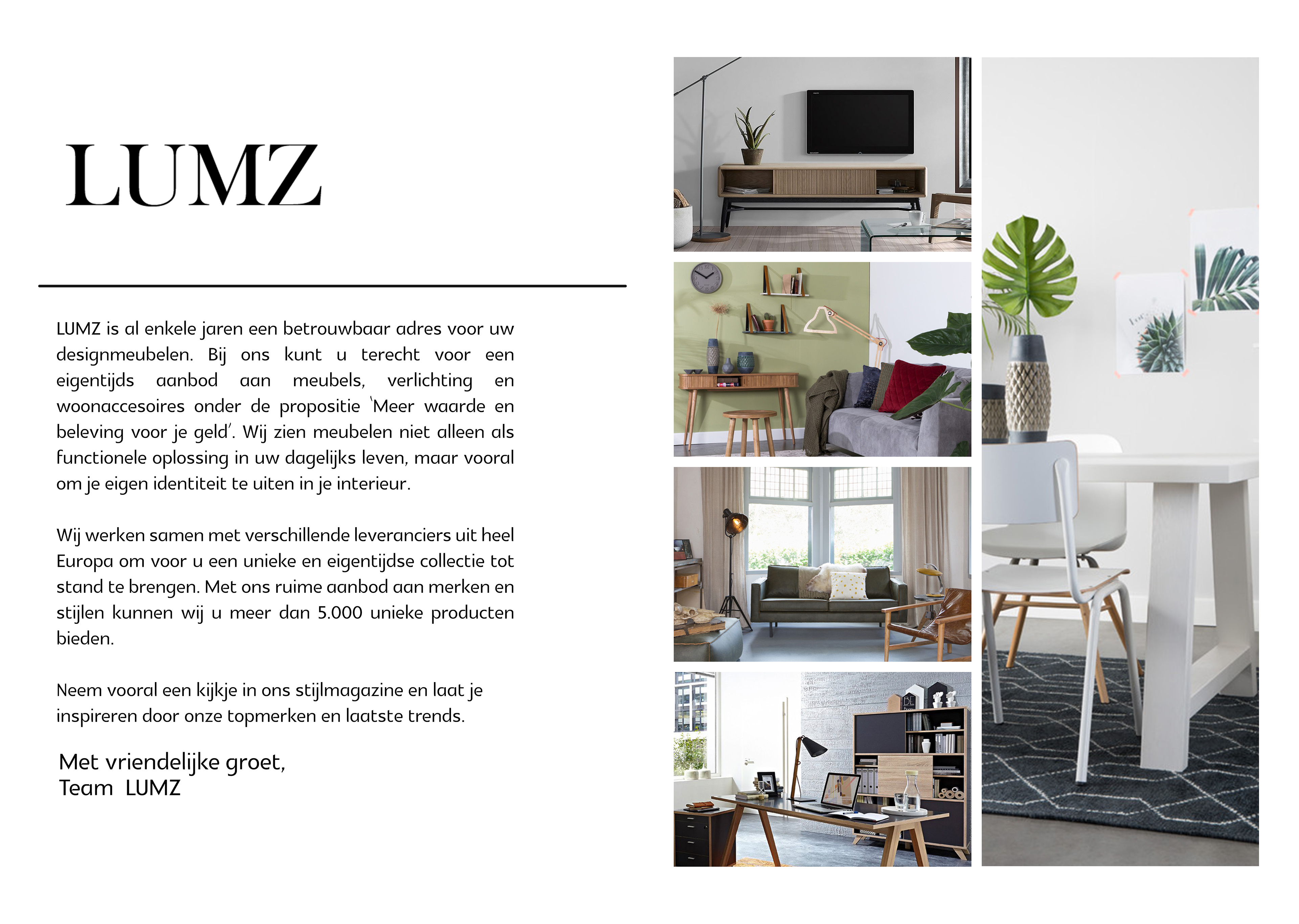Lumz product catalogue for furniture company on behance