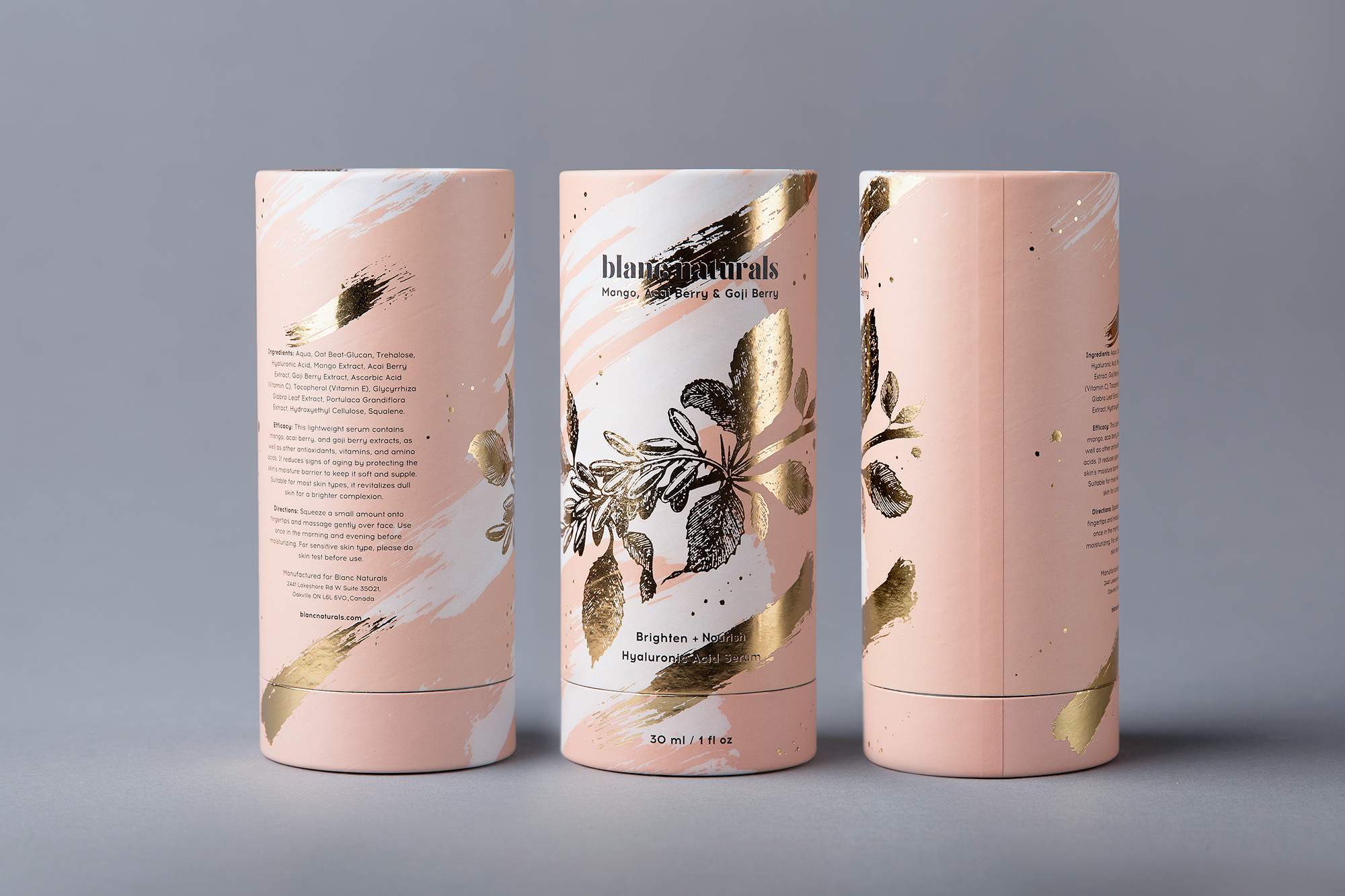 Blanc Cosmetics Packaging Design by Foxtrot Studio