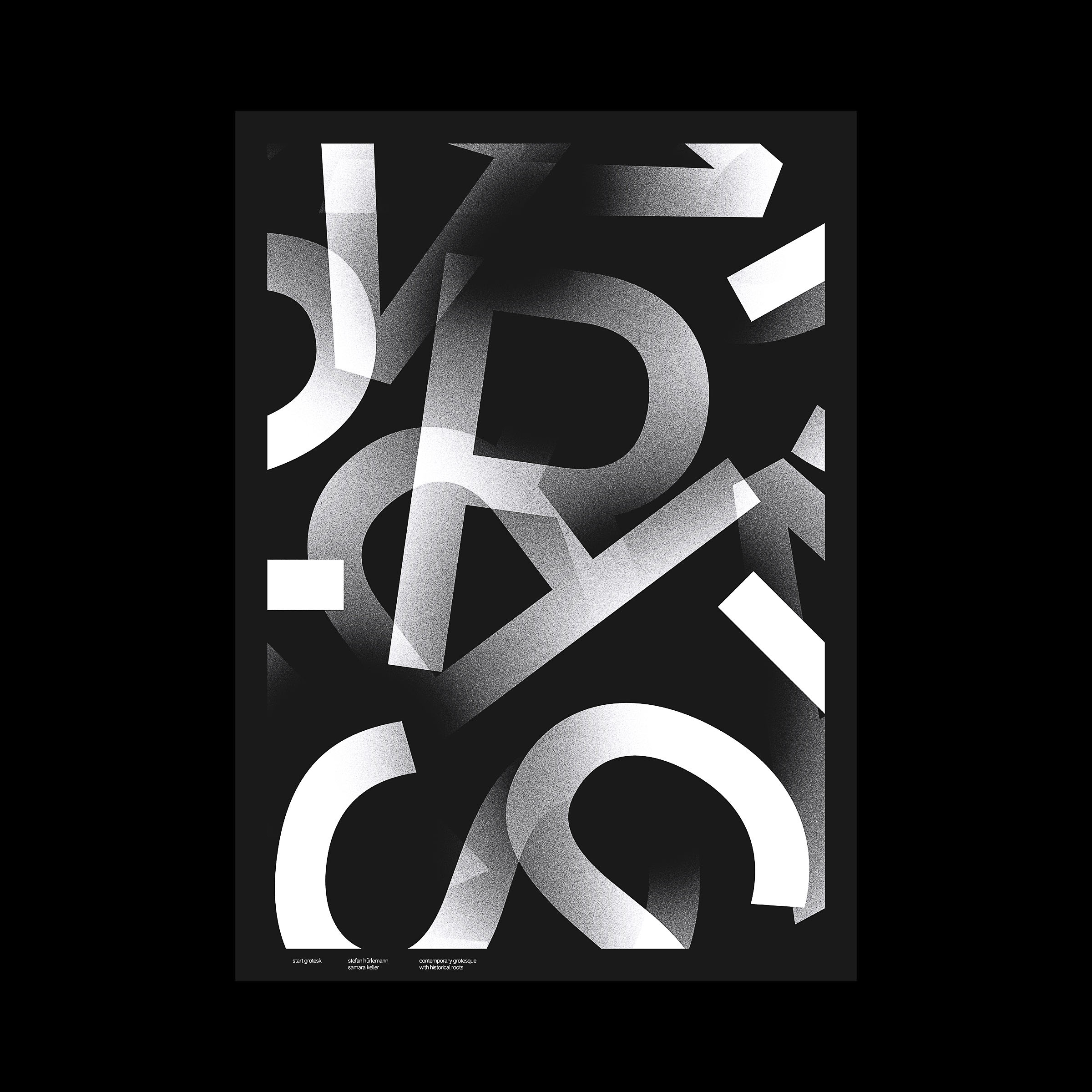 Black Typography Posters 2017 on Behance