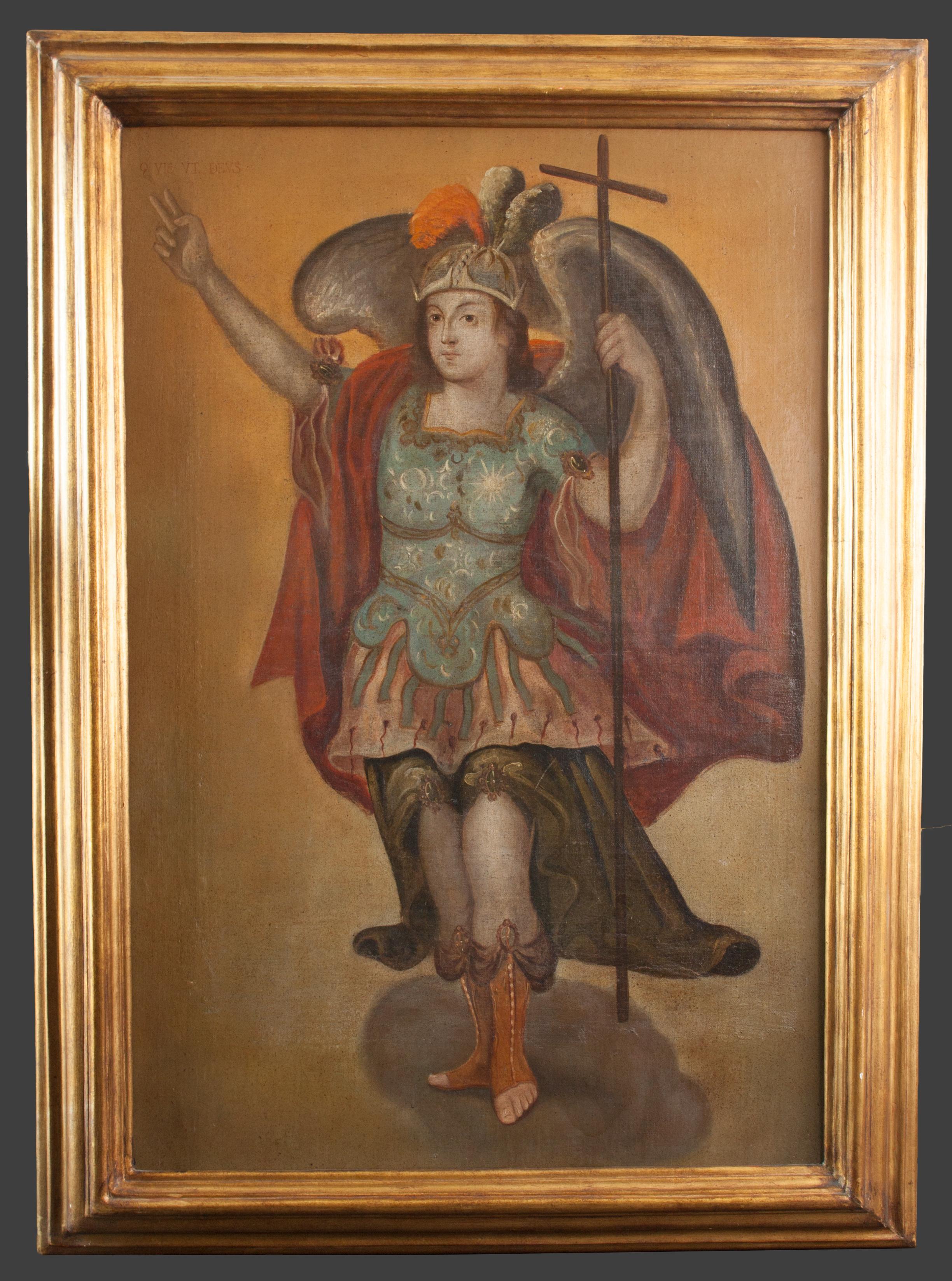 Oscar Méndez Conde Art Collection - Pintura del Arcangel San Miguel